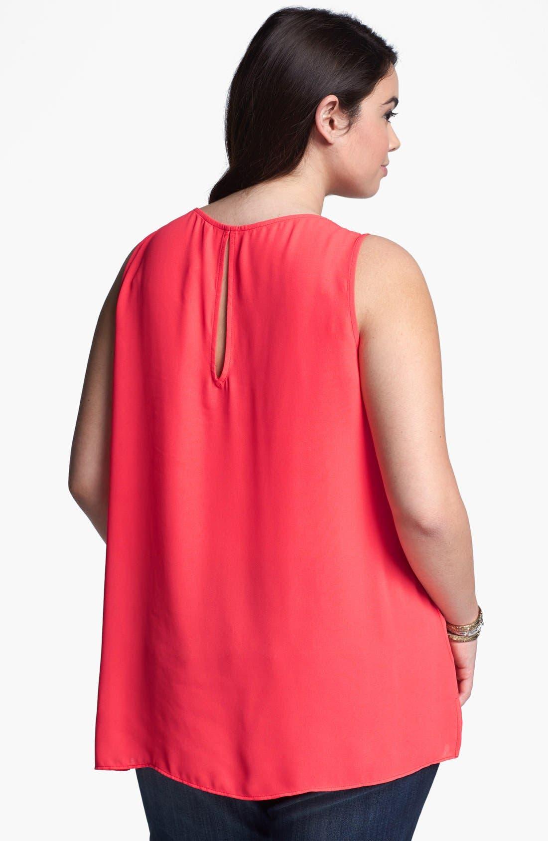 Alternate Image 2  - Eight Sixty Embellished Sleeveless Blouse (Plus Size)