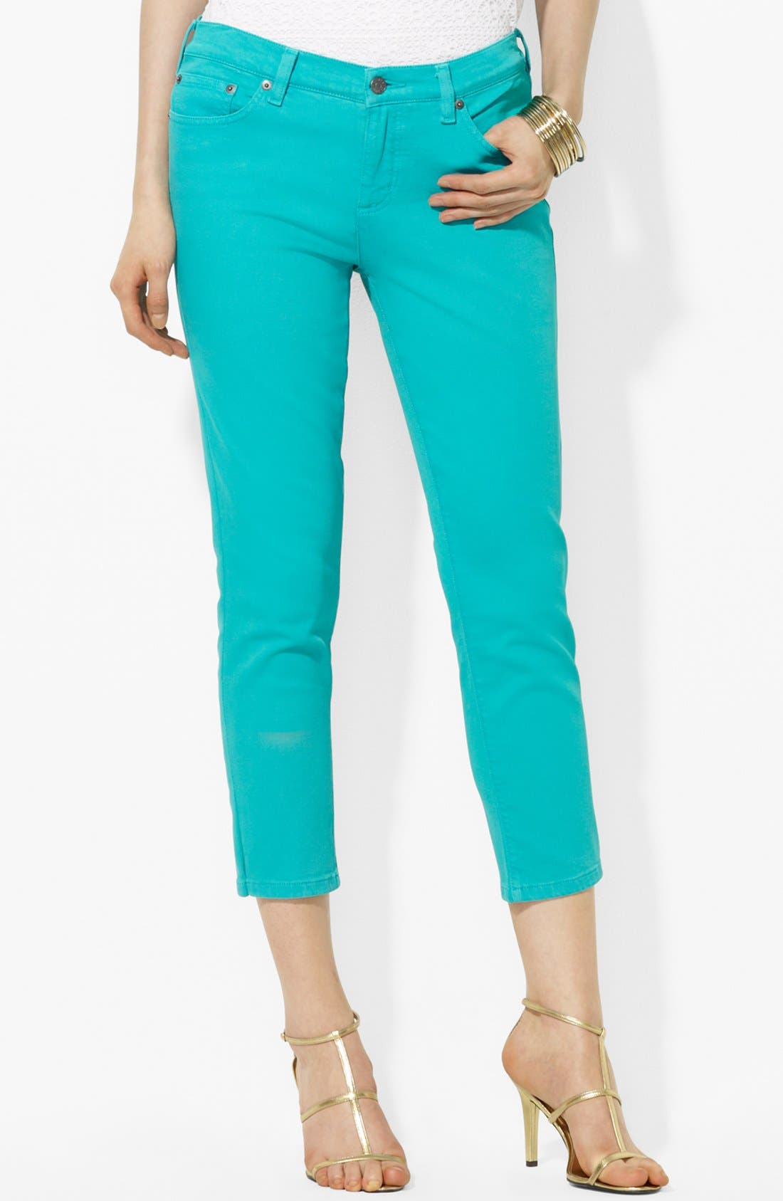 Alternate Image 1 Selected - Lauren Ralph Lauren Modern Straight Leg Crop Jeans
