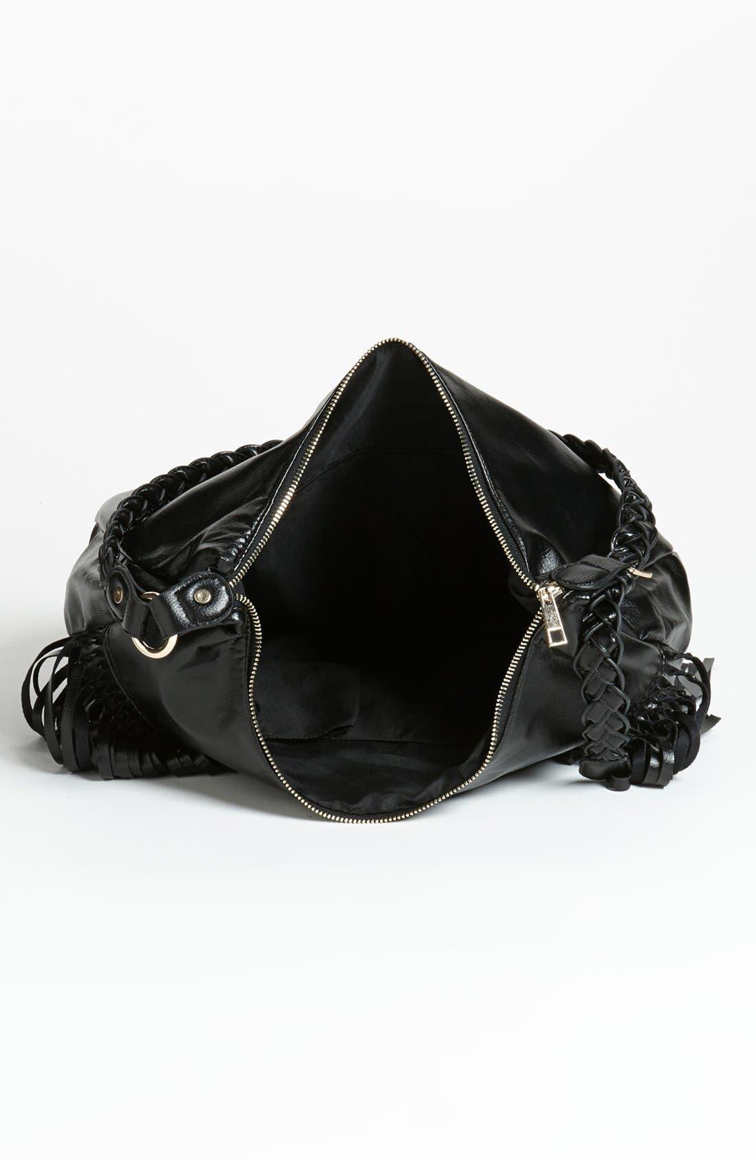 Alternate Image 3  - OMG Fringe Faux Leather Tote (Juniors)