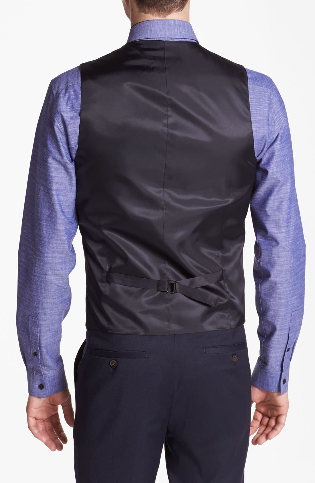 Alternate Image 2  - Topman Skinny Fit Waistcoat