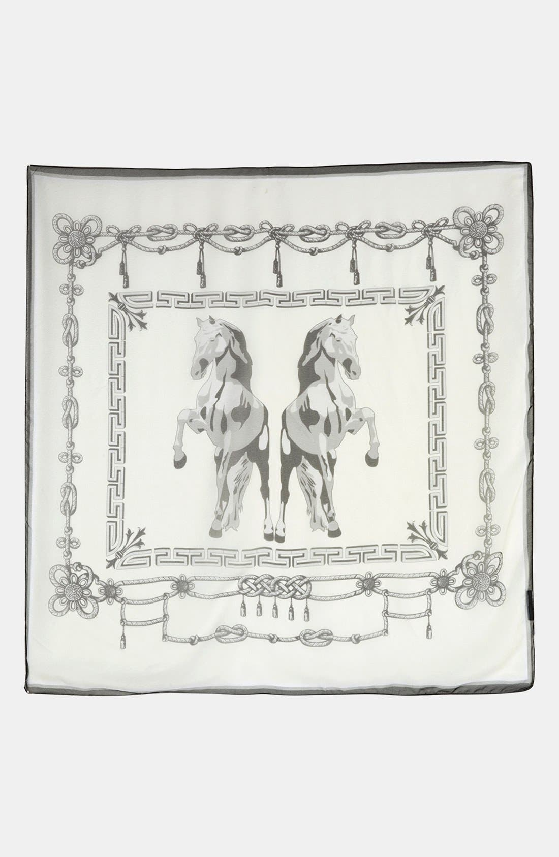 Alternate Image 2  - Topshop Horse Print Chiffon Square Scarf