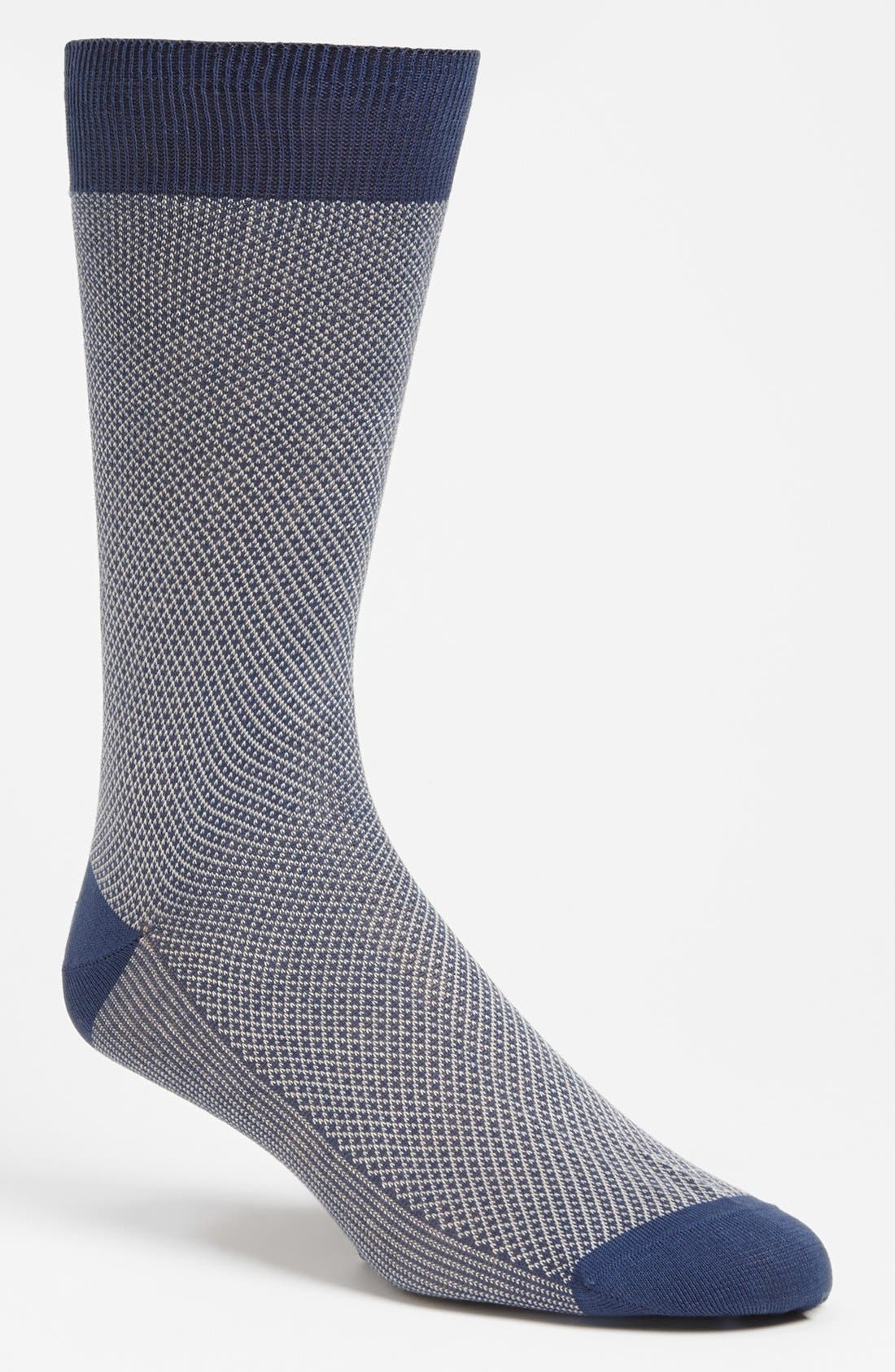 Main Image - Canali Check Socks