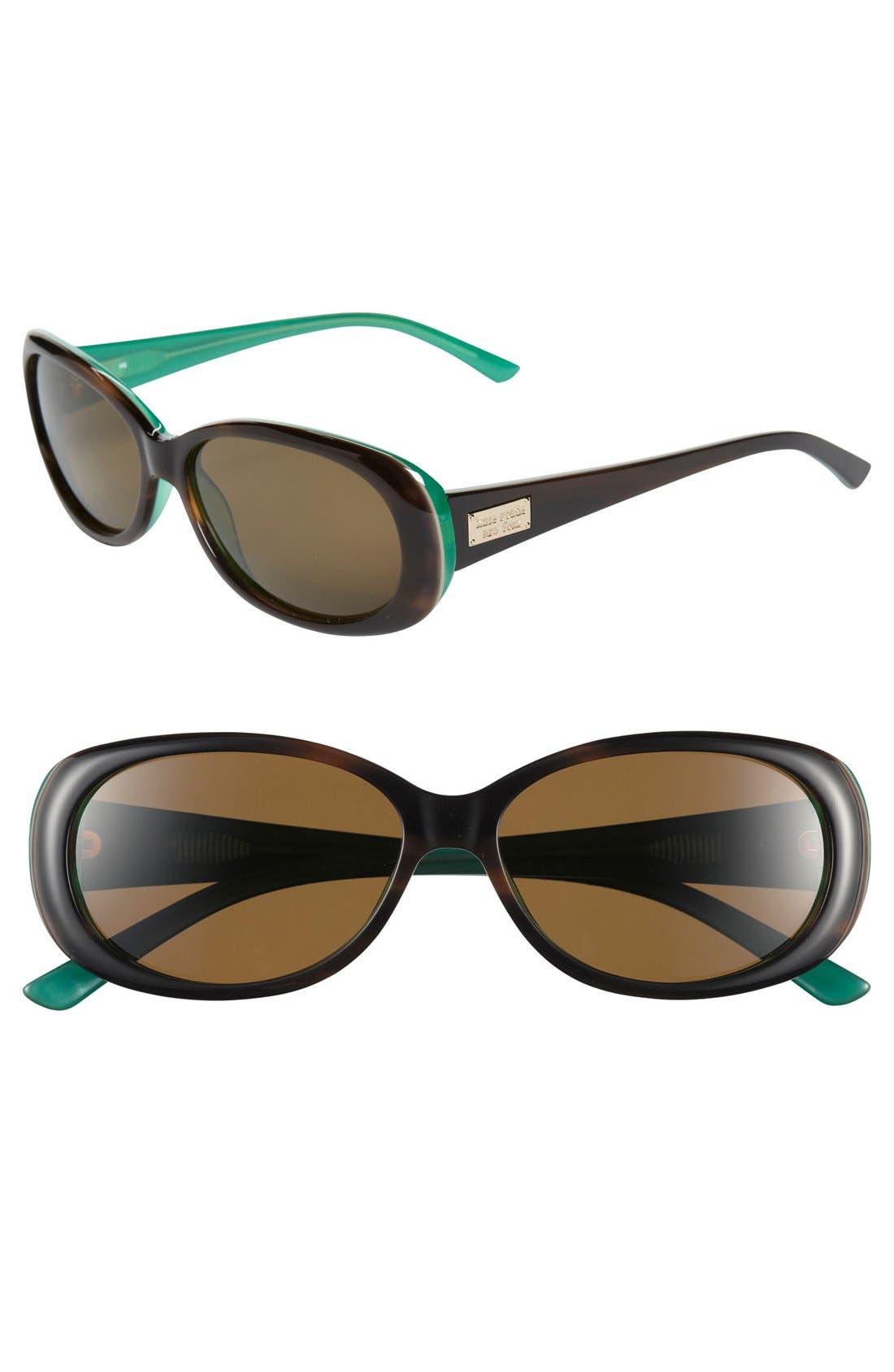 Alternate Image 1 Selected - kate spade new york 'sinclair' 55mm polarized sunglasses