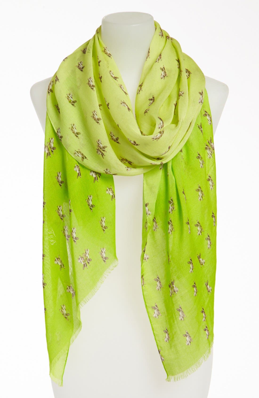 Alternate Image 1 Selected - Ted Baker London 'French Bulldog' Scarf