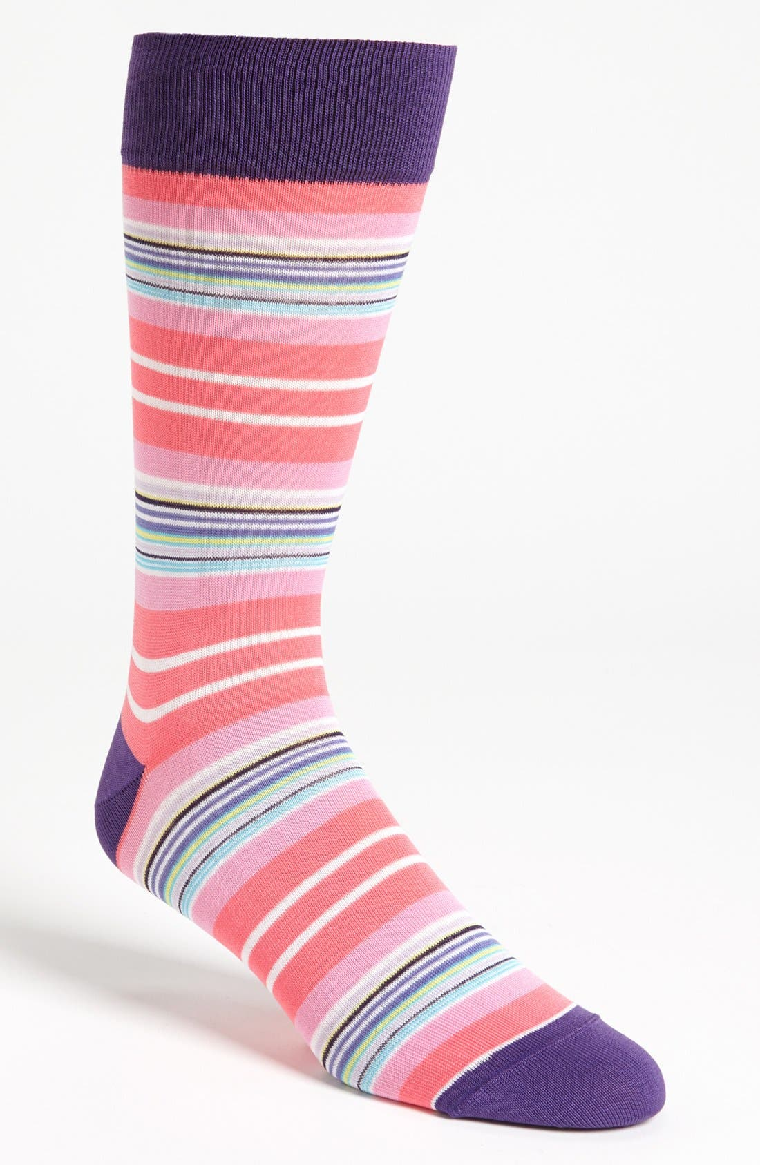 Alternate Image 1 Selected - BUGATCHI Multi Stripe Socks