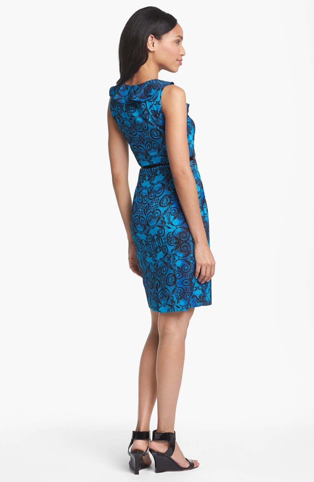Alternate Image 2  - Marc New York by Andrew Marc Ruffled Print Sheath Dress