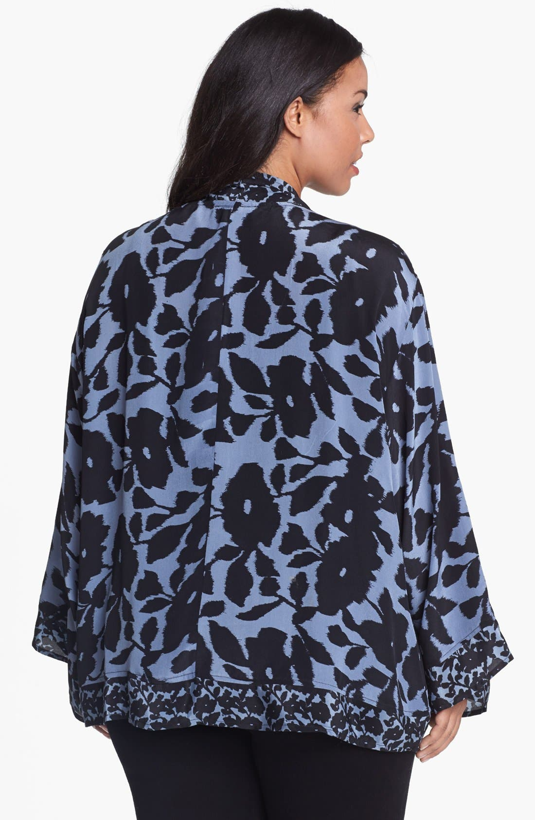 Alternate Image 2  - Tolani 'Shayna' Silk Jacket (Plus Size)