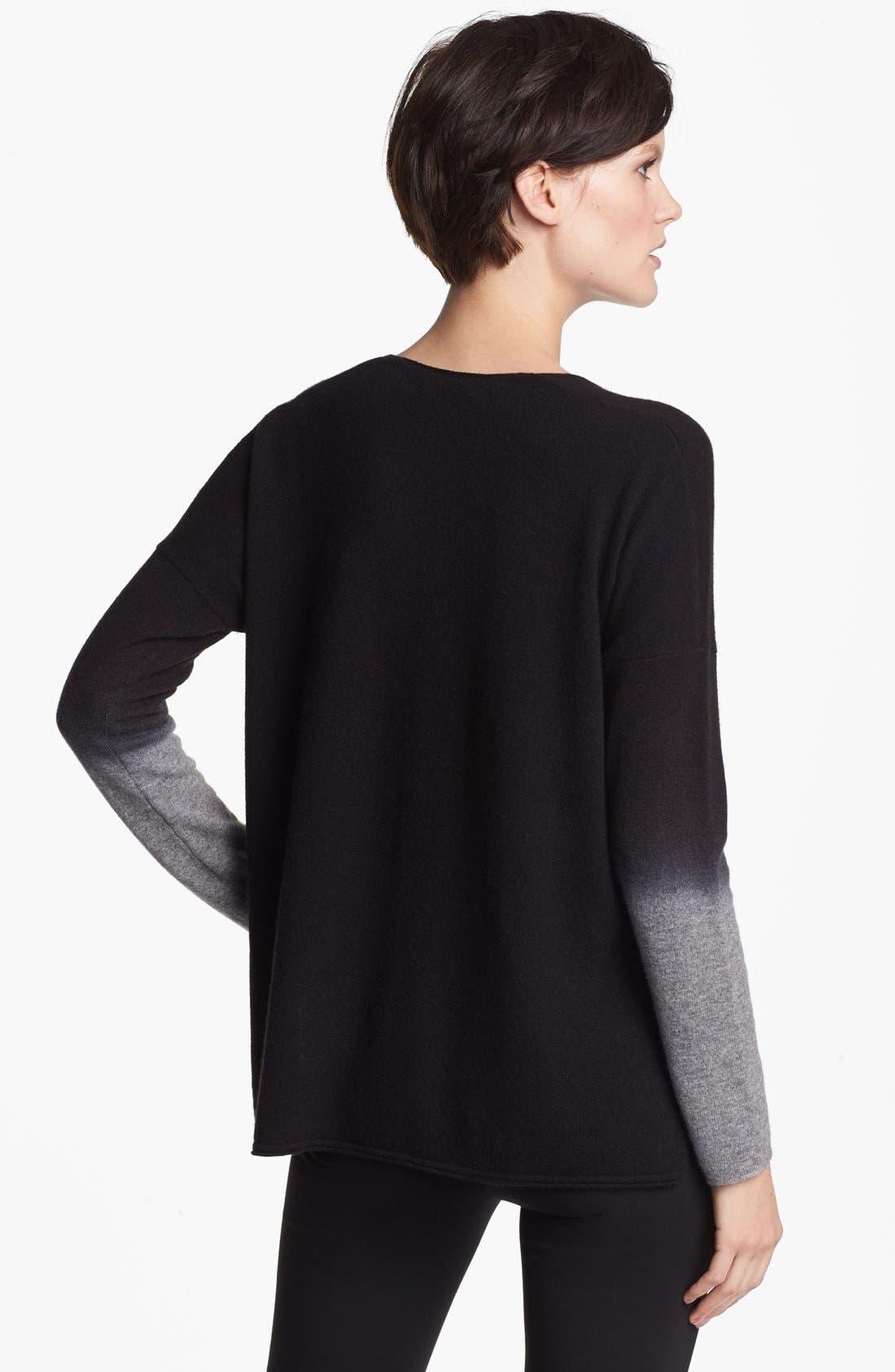 Alternate Image 2  - Vince V-Neck Crop Sweater