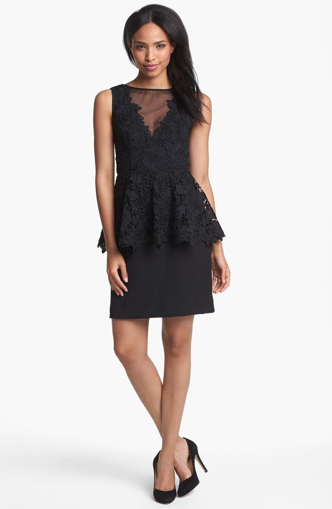 Alternate Image 3  - Betsy & Adam Lace Peplum Dress
