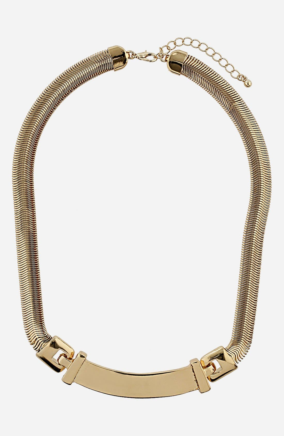 Alternate Image 1 Selected - Topshop Snake Chain Necklace