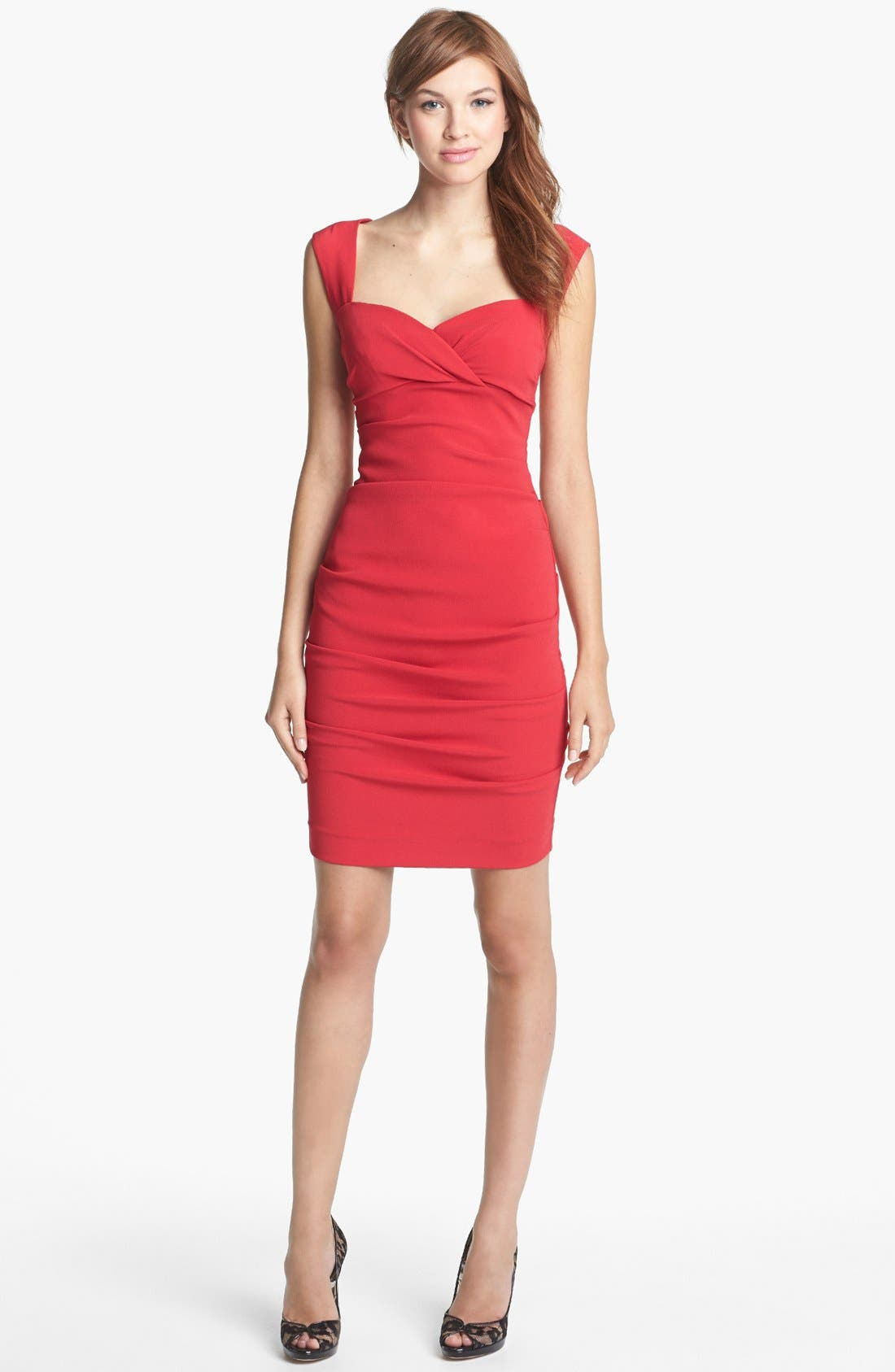 Alternate Image 1 Selected - Nicole Miller Ruched Sheath Dress