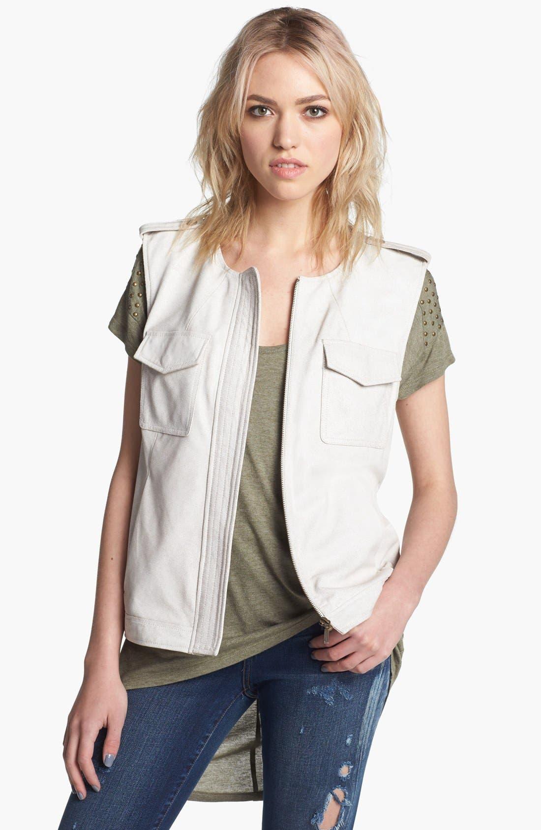 Alternate Image 1  - Trouvé Leather Biker Vest