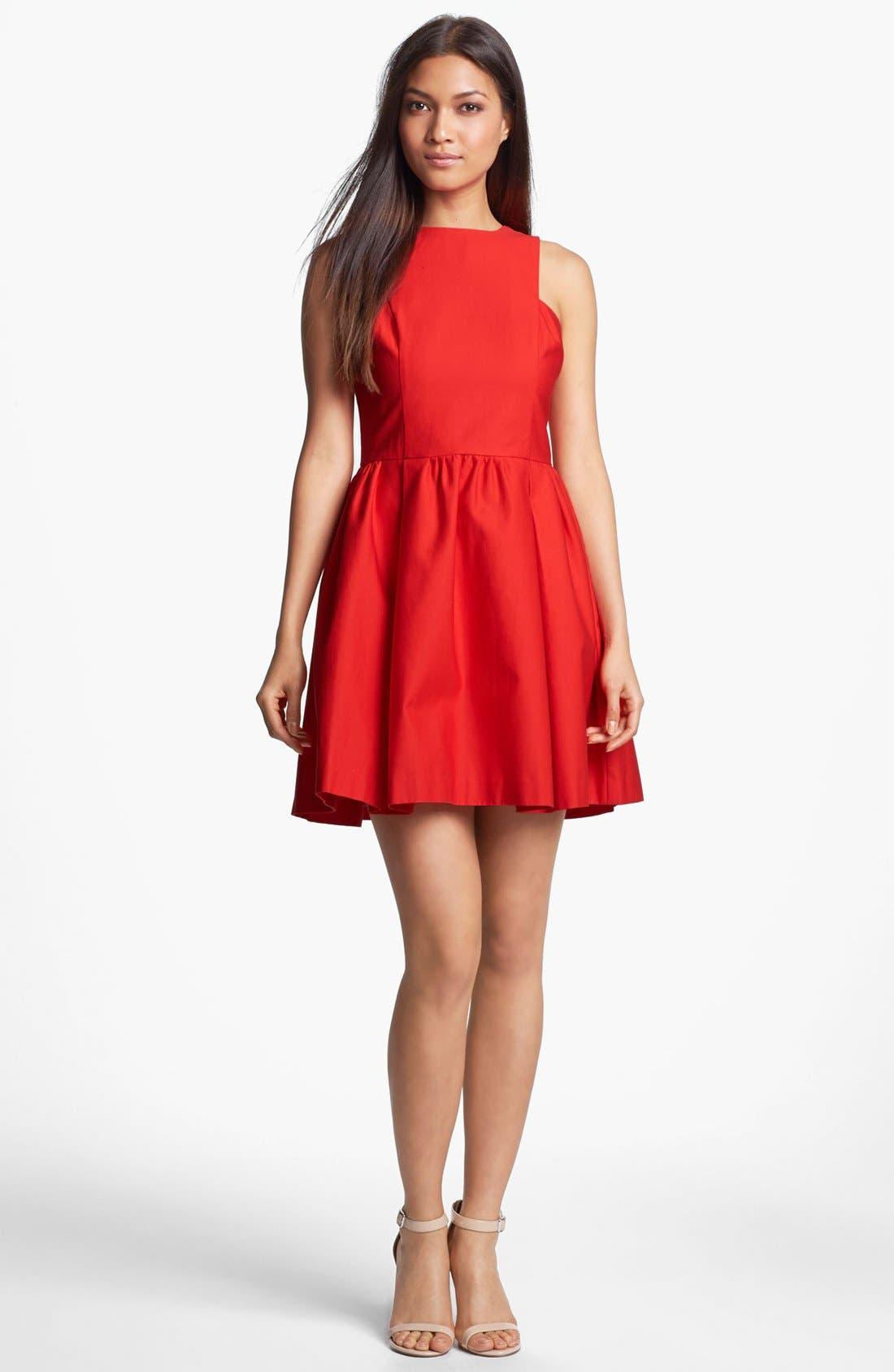 Alternate Image 1 Selected - BB Dakota 'Anisa' Cotton Fit & Flare Dress