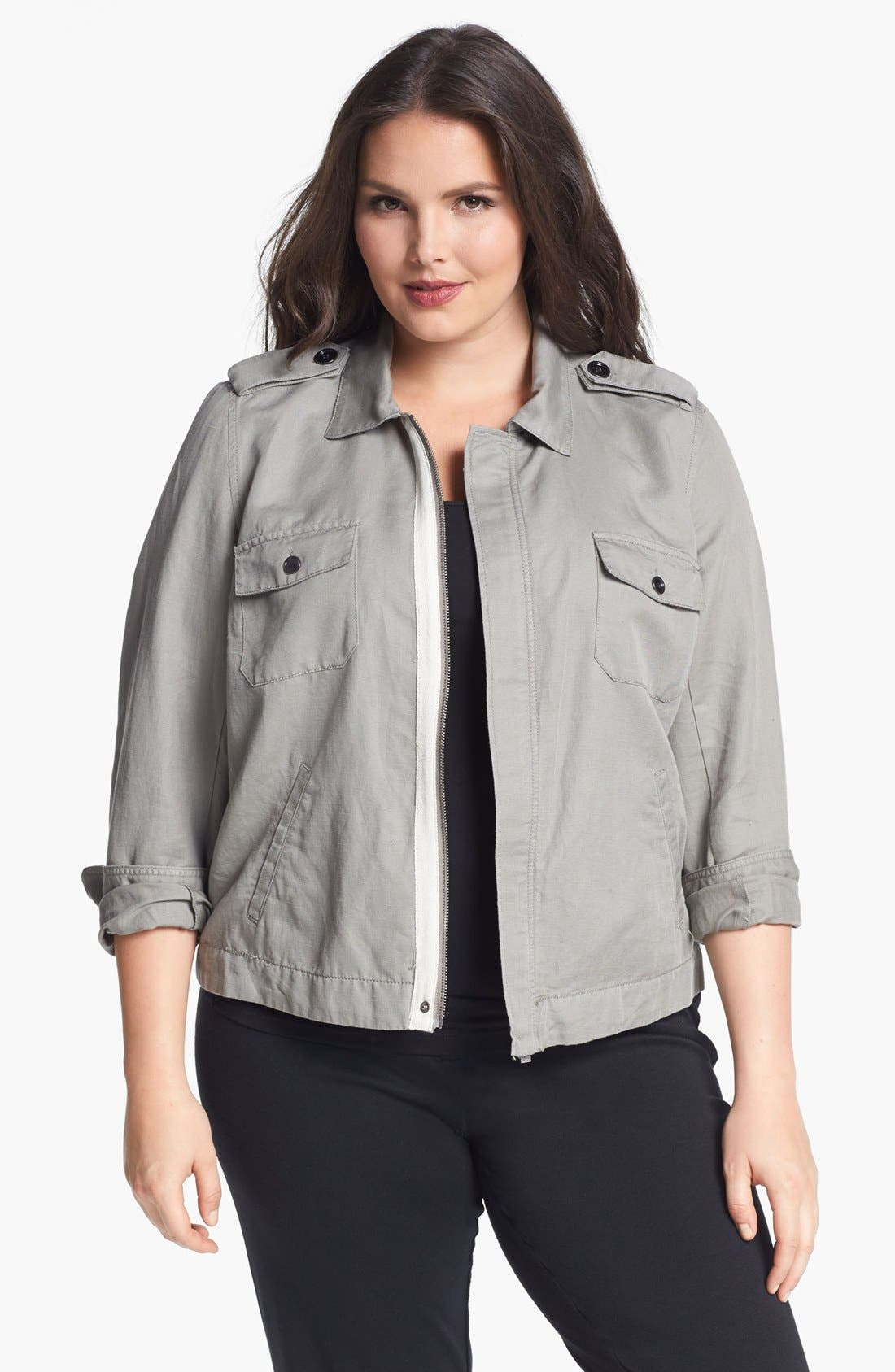 Alternate Image 1 Selected - Two by Vince Camuto Utility Jacket (Plus Size)