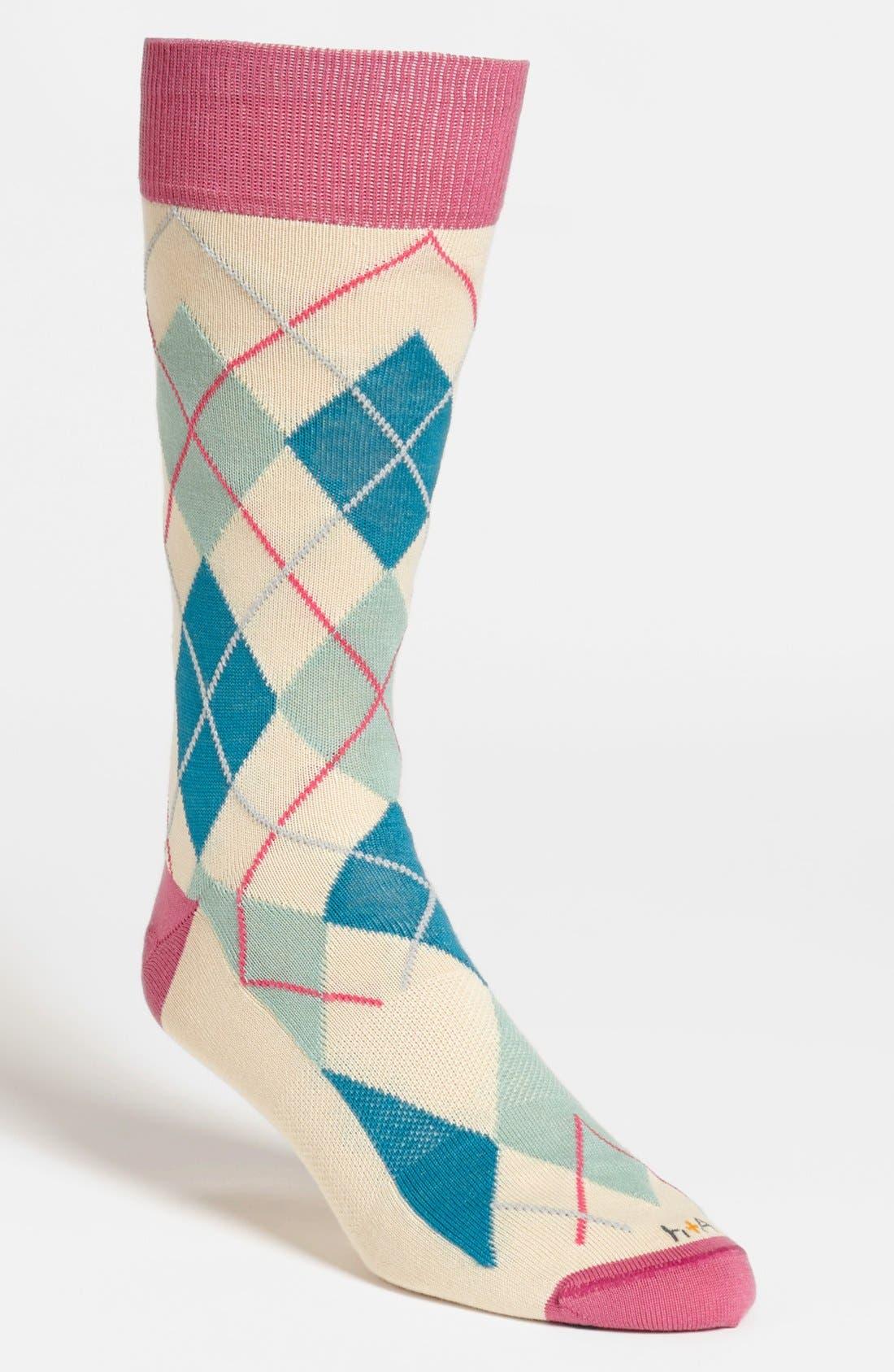 Main Image - hook + ALBERT Argyle Socks