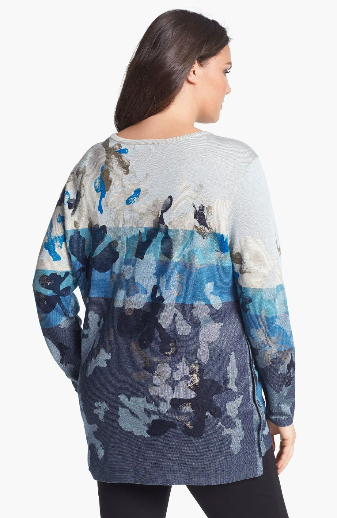Alternate Image 2  - NIC+ZOE 'Bloomed' Side Button Sweater (Plus Size)