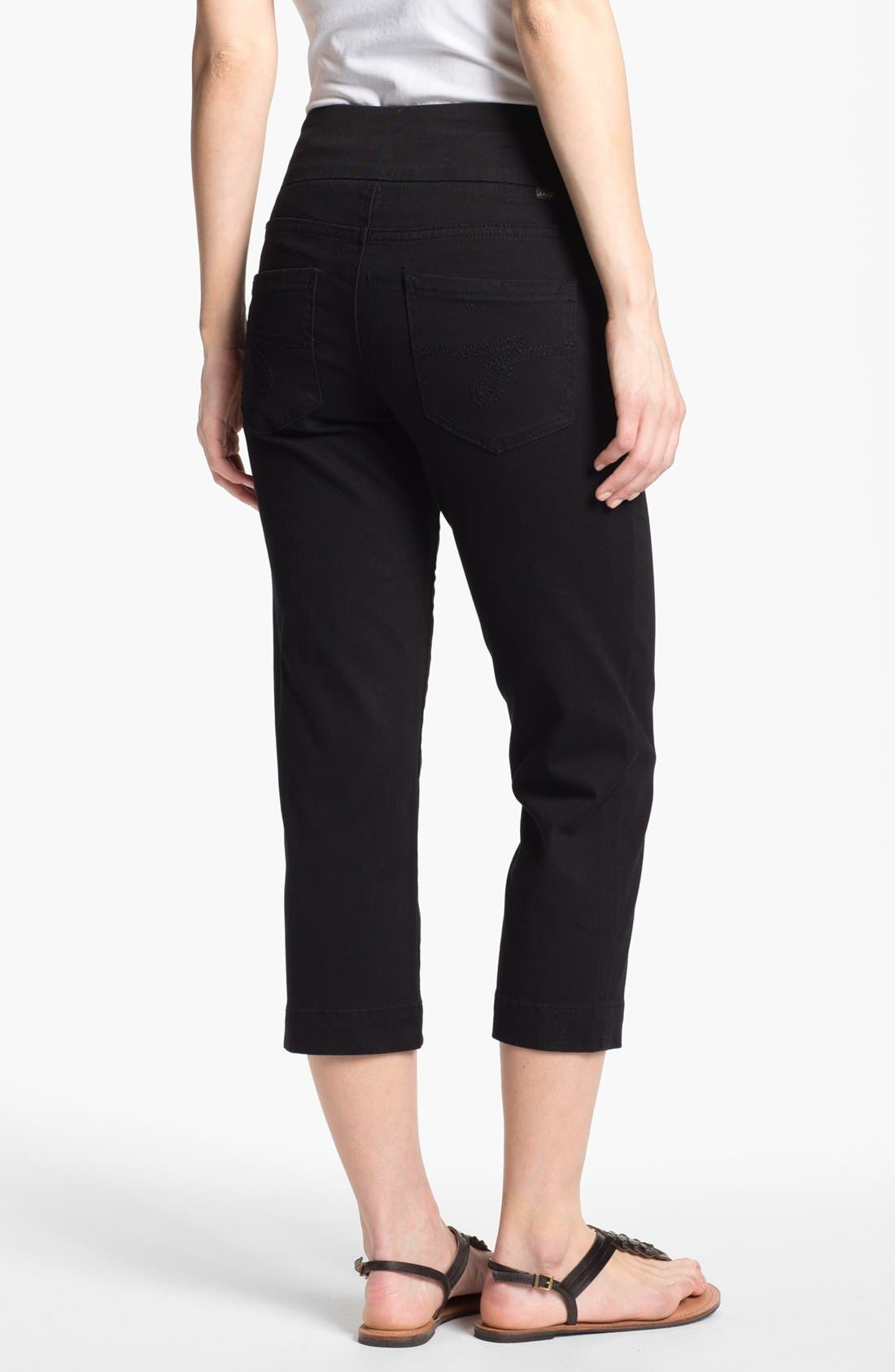 Alternate Image 2  - Jag Jeans 'Fenmore' Crop Twill Pants (Plus Size)