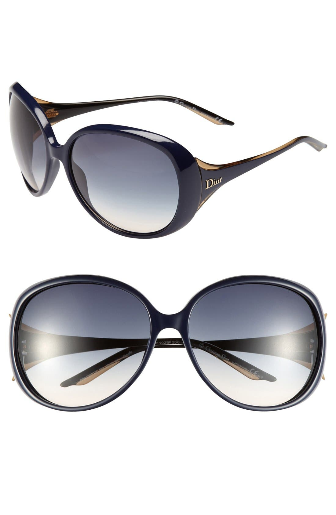 Alternate Image 1 Selected - Dior 'Cocotte' 63mm Oversized Sunglasses