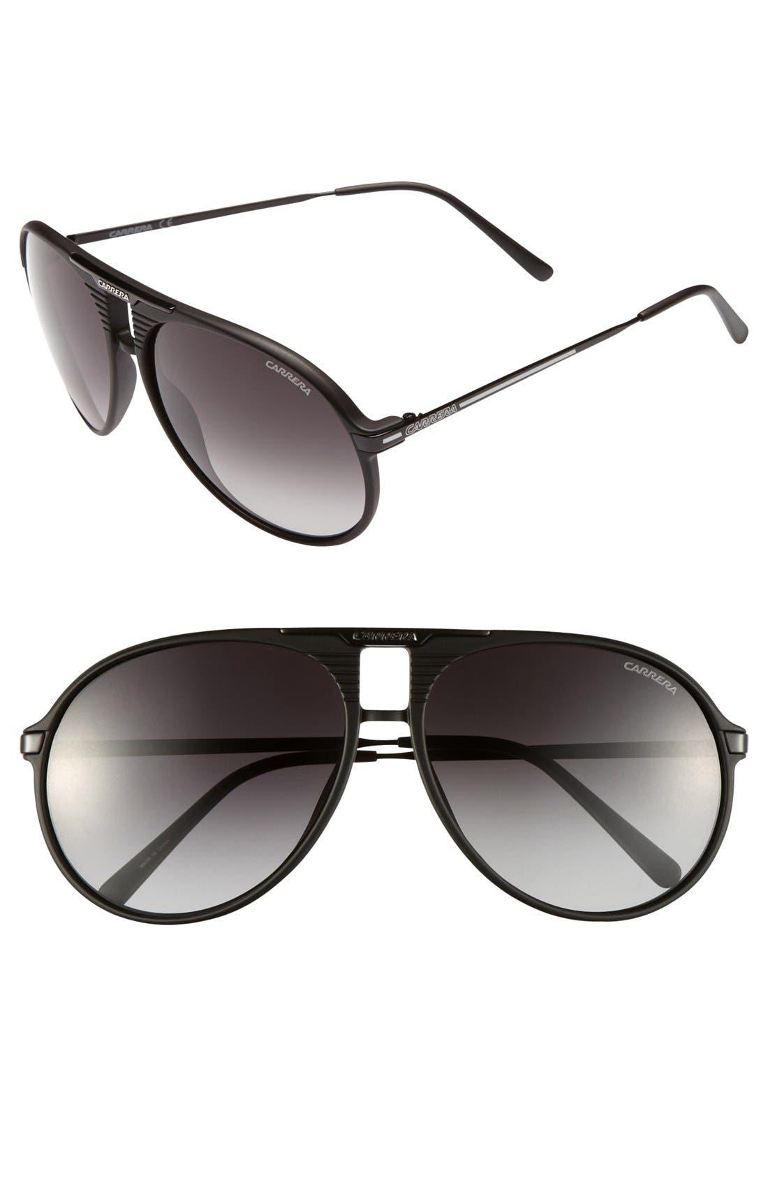Alternate Image 1 Selected - Carrera Eyewear 60mm Aviator Sunglasses
