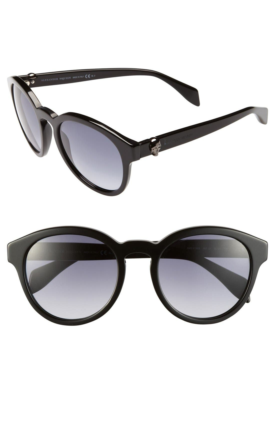 Alternate Image 1 Selected - Alexander McQueen 52mm Sunglasses