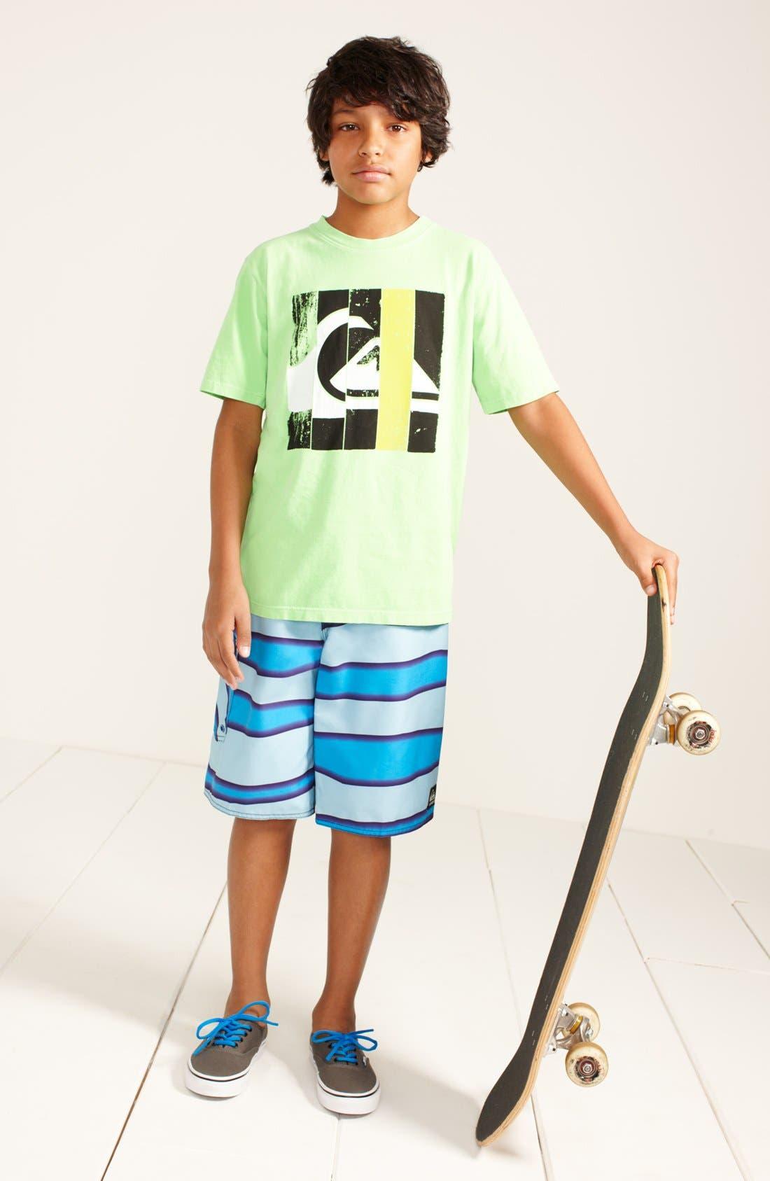 Main Image - Quiksilver T-Shirt & Board Shorts (Big Boys)