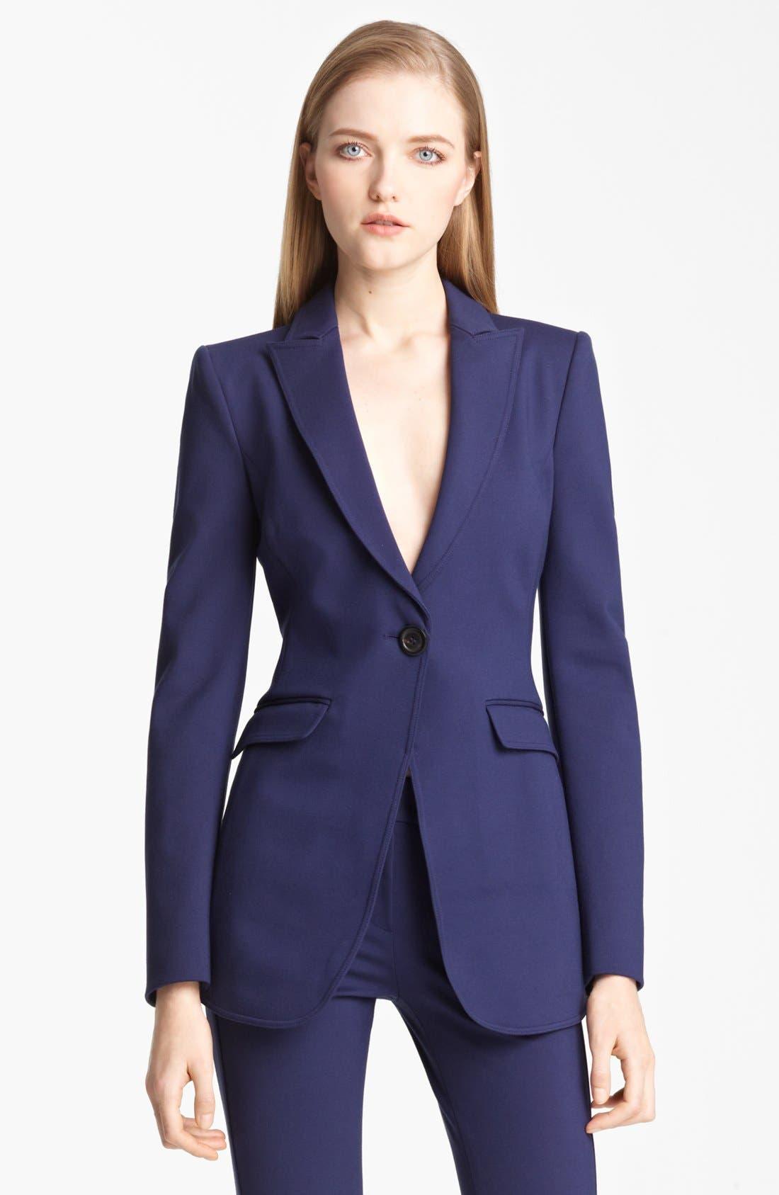 Main Image - Armani Collezioni Long Milano Jersey Jacket