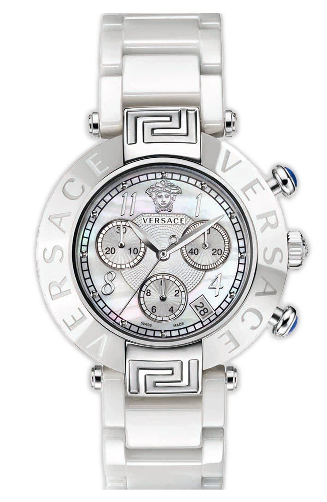 Main Image - Versace 'Reve Chrono' Ceramic Bracelet Watch, 40mm