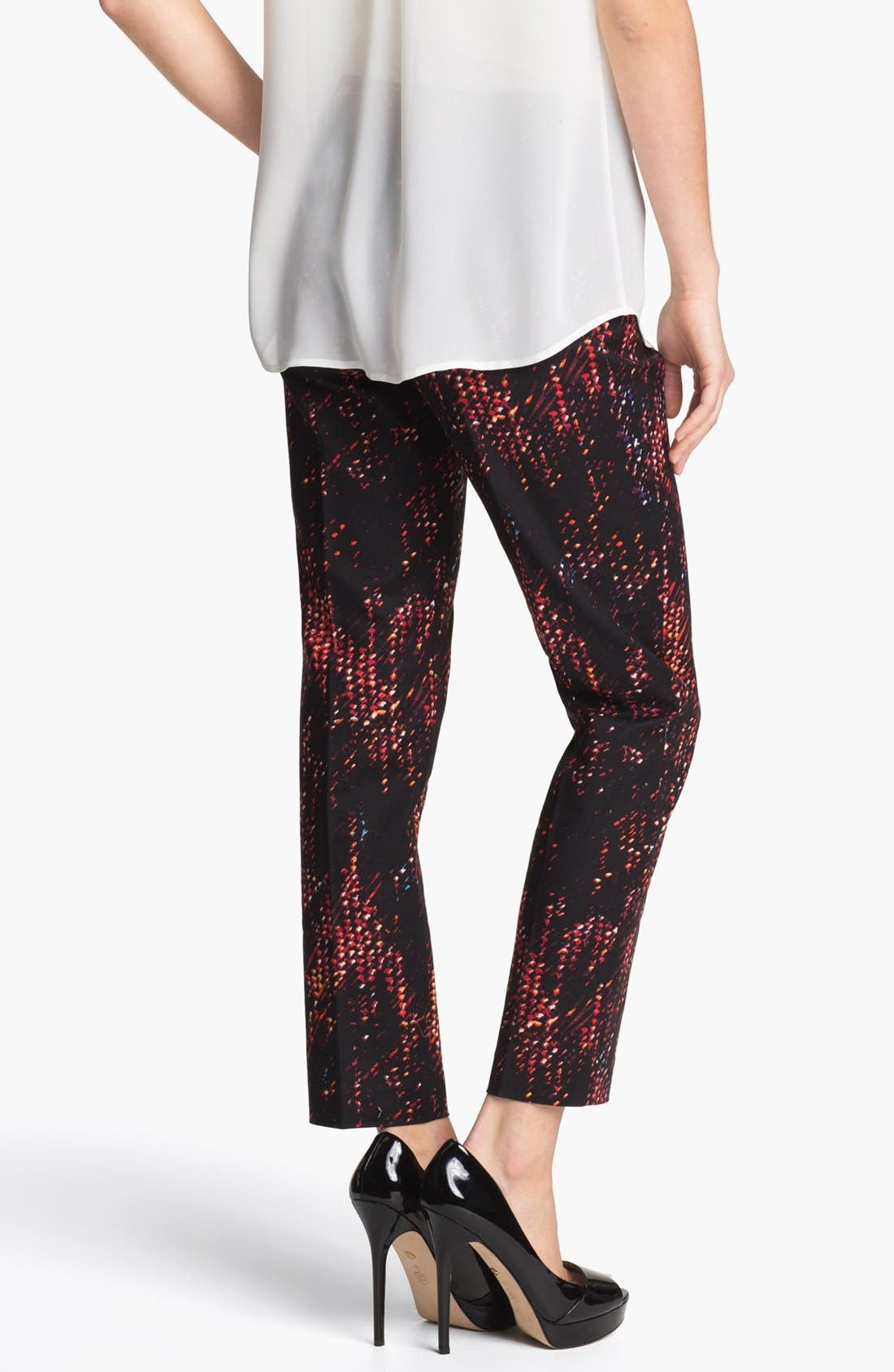 Alternate Image 2  - Halogen® 'Taylor' Patterned Skinny Ankle Pants (Petite)