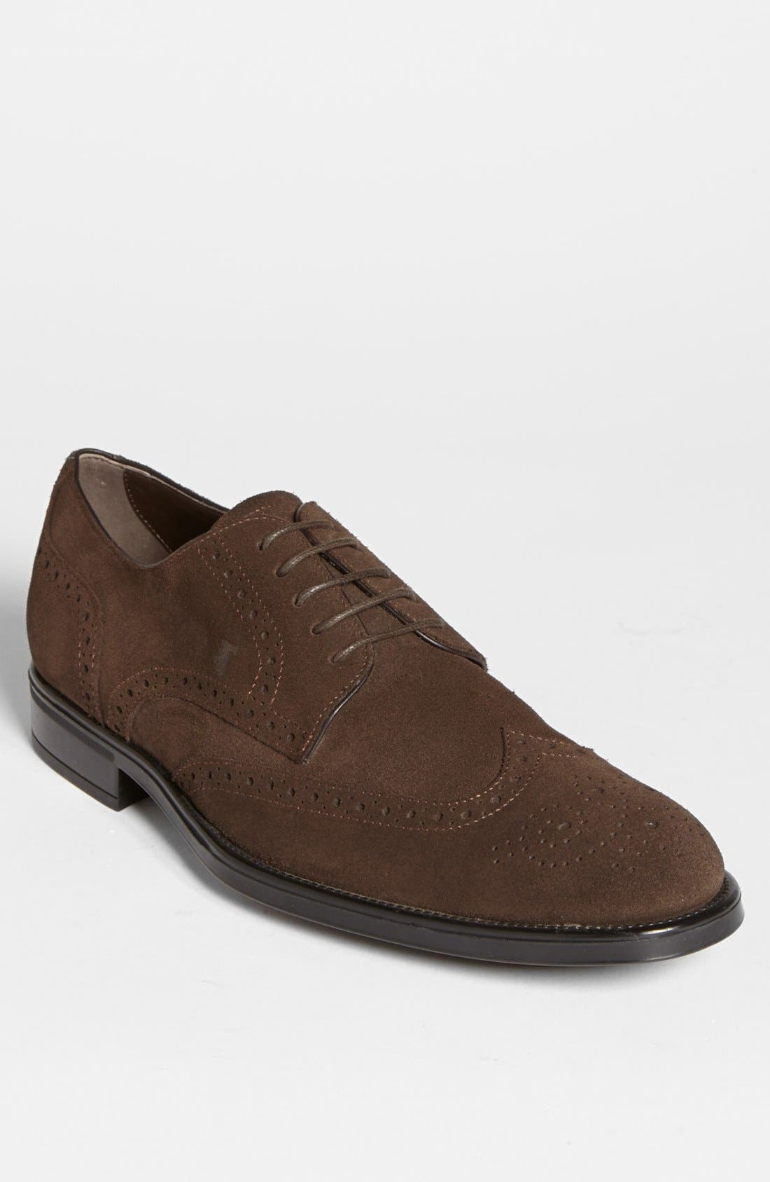 Alternate Image 1 Selected - Tod's 'Derby' Suede Wingtip