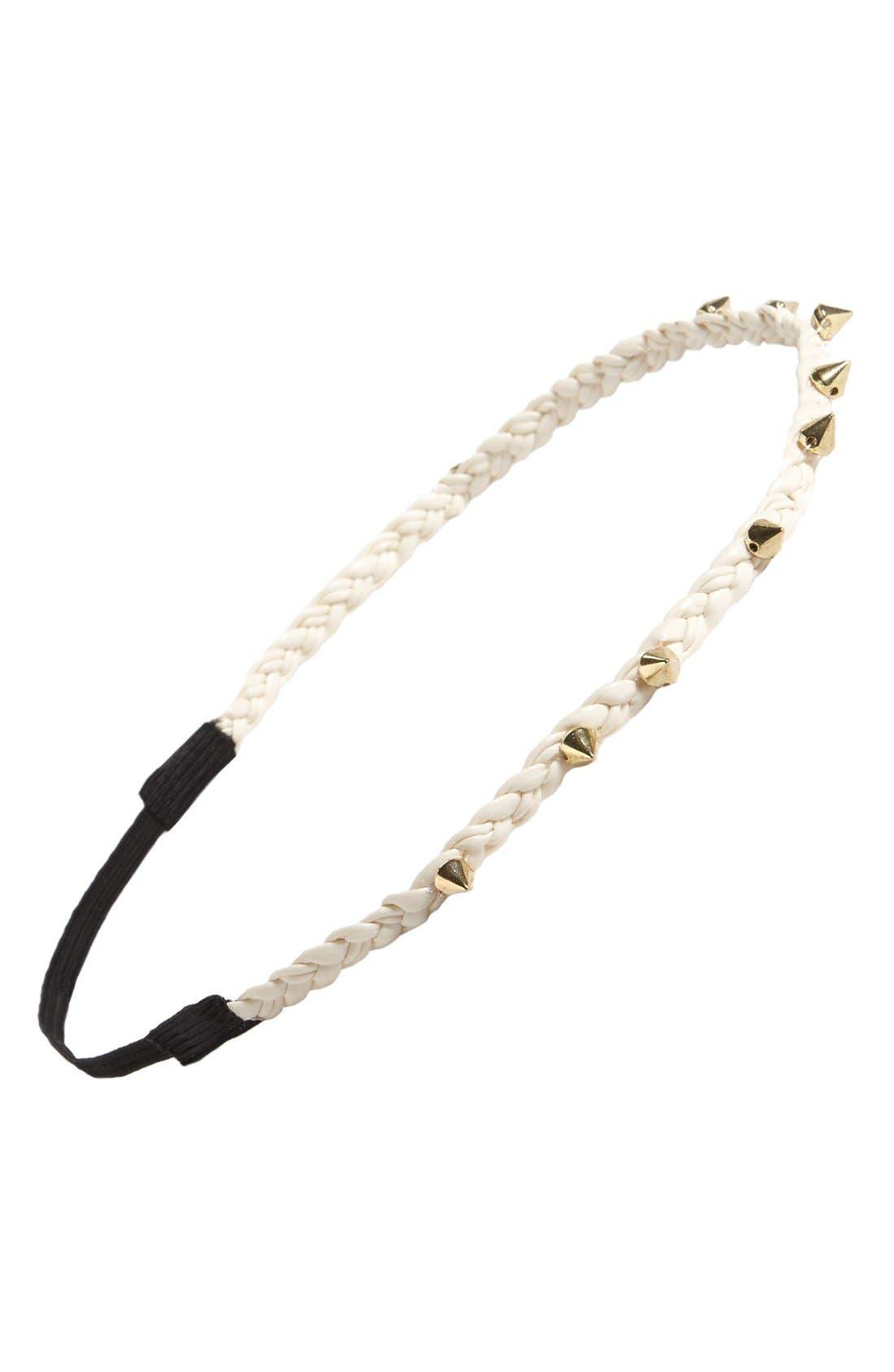 Alternate Image 1 Selected - Stephan & Co. Studded Rope Braid Headband
