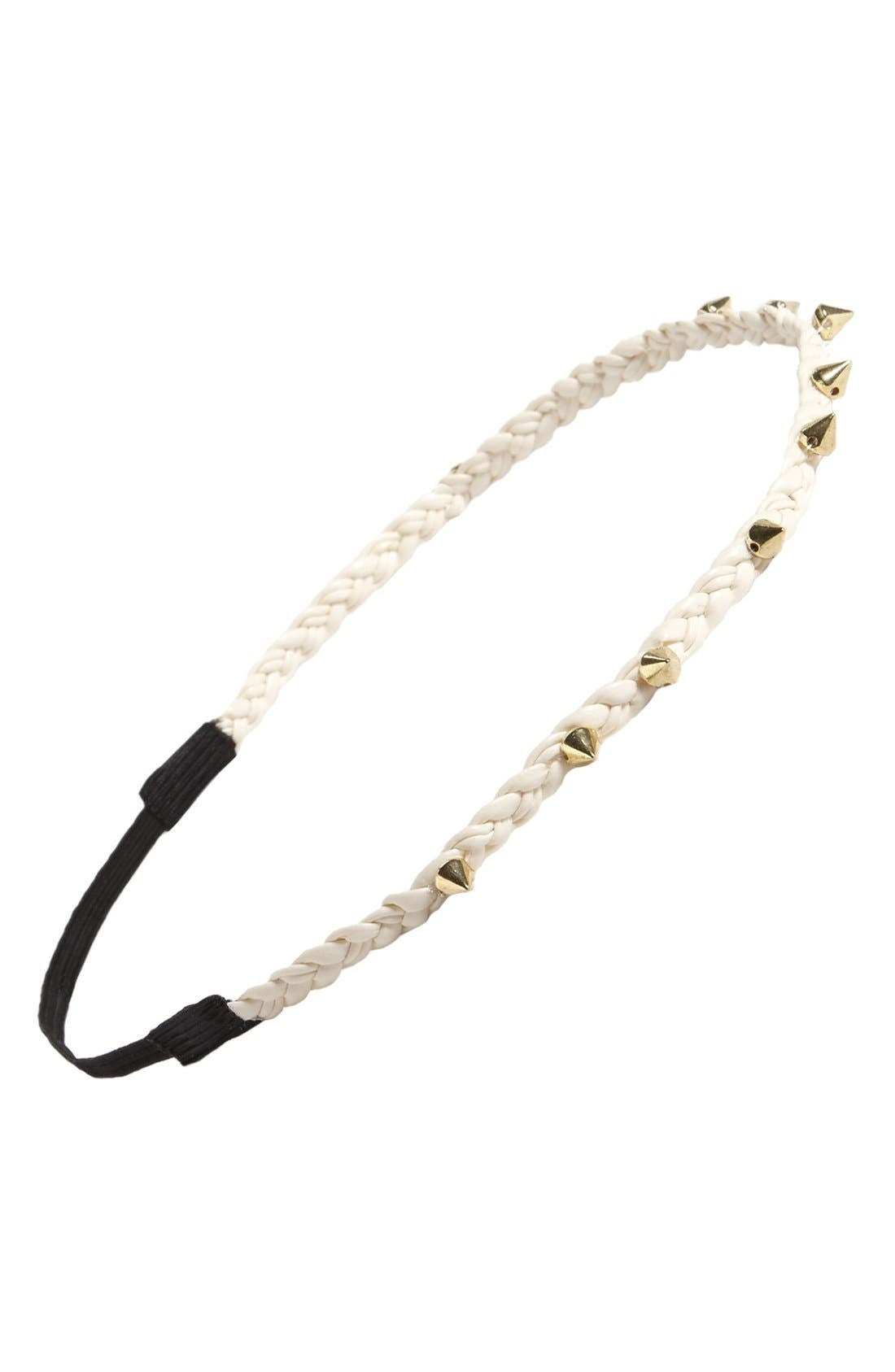 Main Image - Stephan & Co. Studded Rope Braid Headband