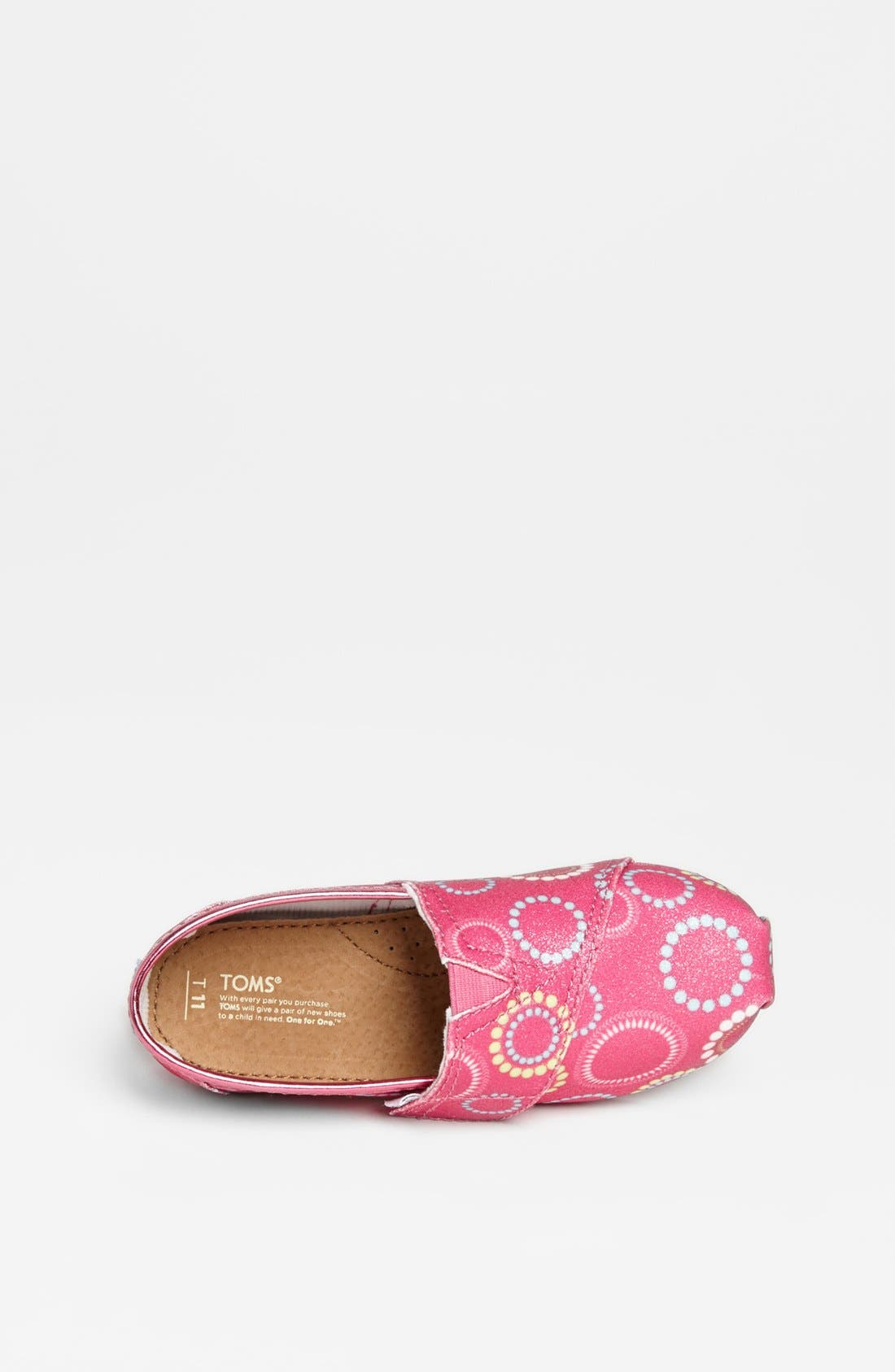 Alternate Image 3  - TOMS 'Classic Tiny - Circles Glitter' Slip-On (Baby, Walker & Toddler)
