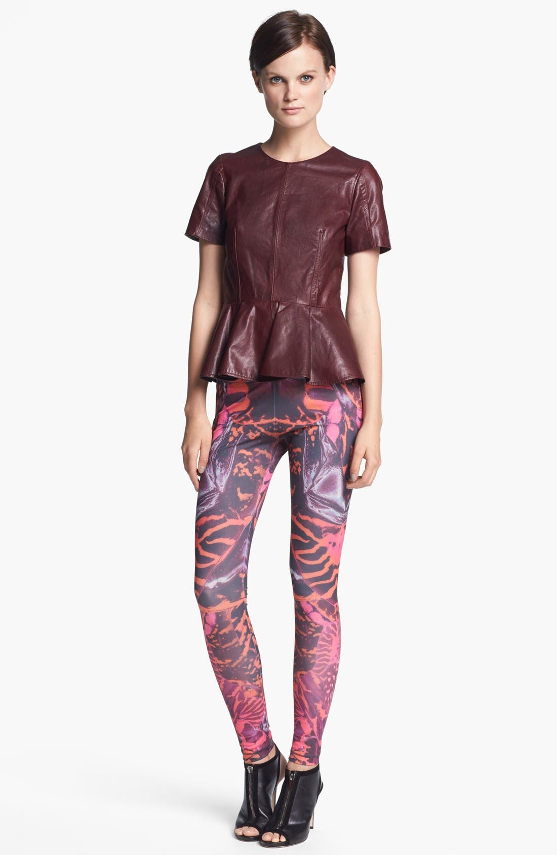 Alternate Image 2  - McQ by Alexander McQueen Leather Peplum Top