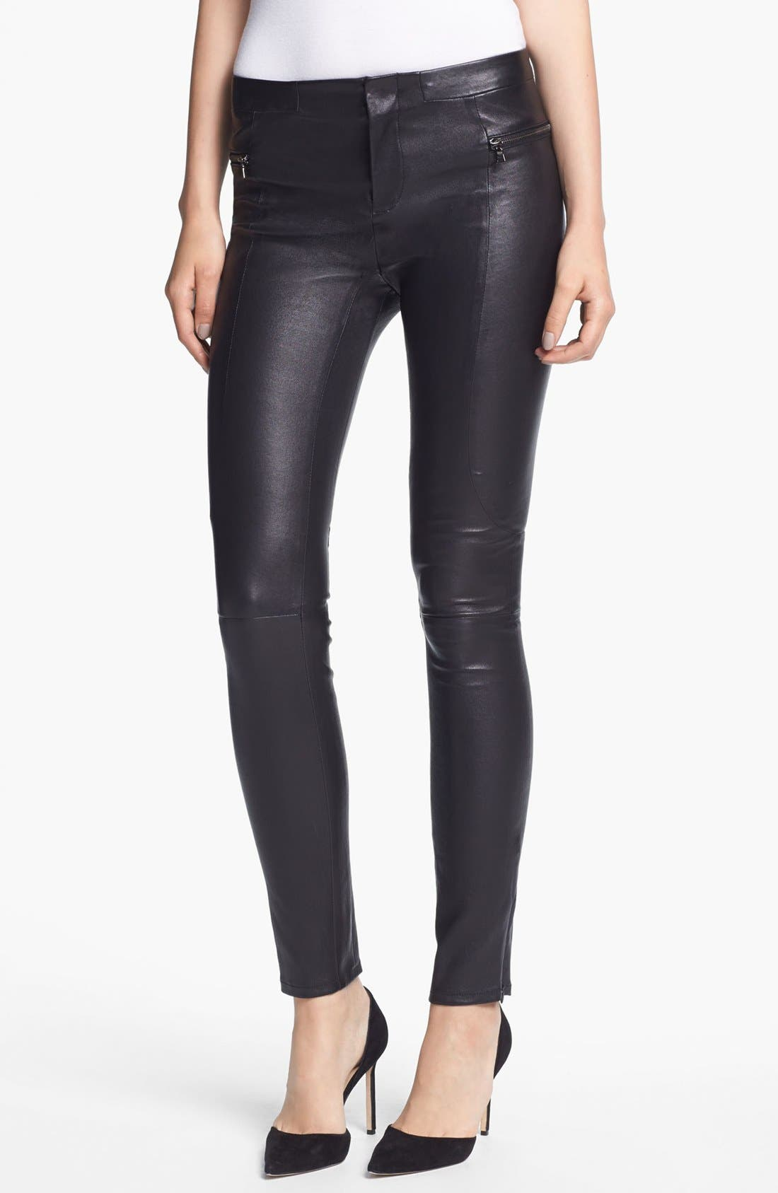 Alternate Image 1 Selected - J Brand Ready-to-Wear 'Minette' Stretch Leather Pants