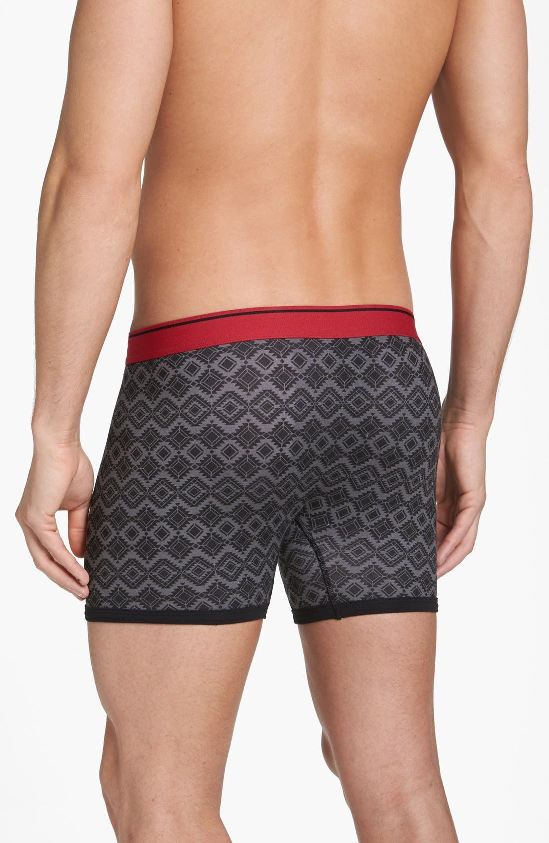 Alternate Image 4  - Basic Underwear 'Bottoms Out' Pattern Boxer Briefs (3-Pack)