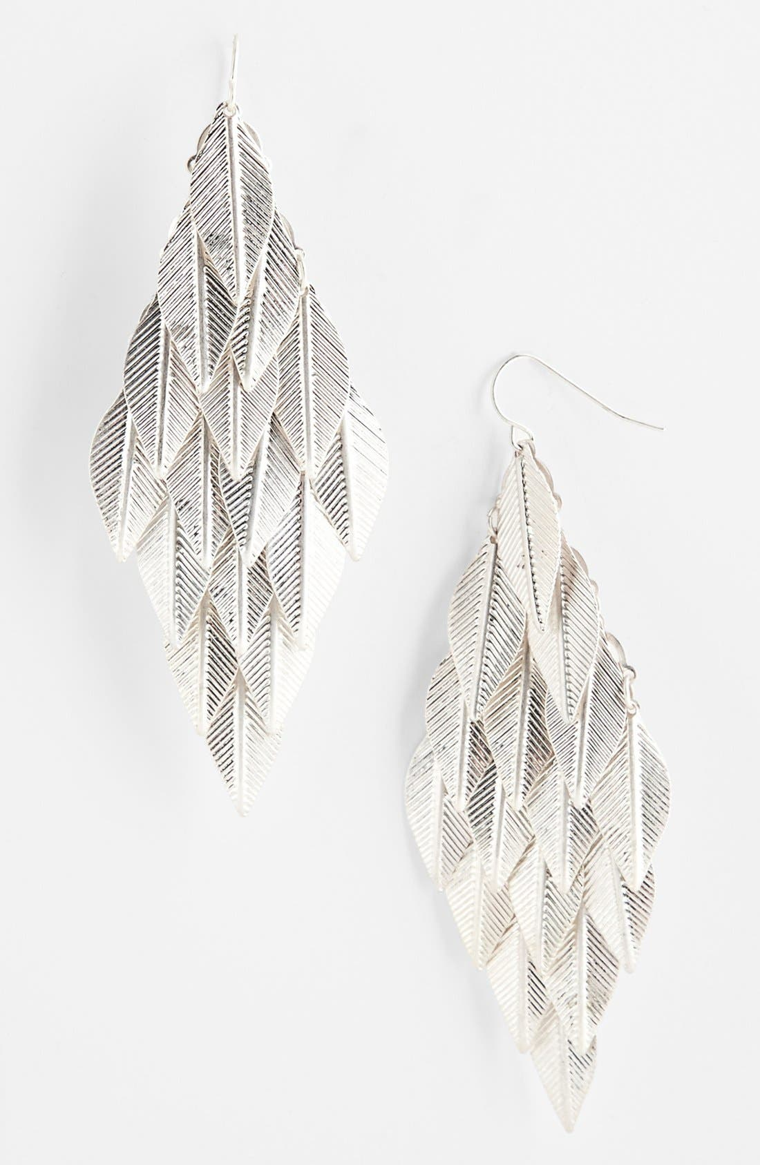 Alternate Image 1 Selected - Carole Leaf Earrings (Online Only)