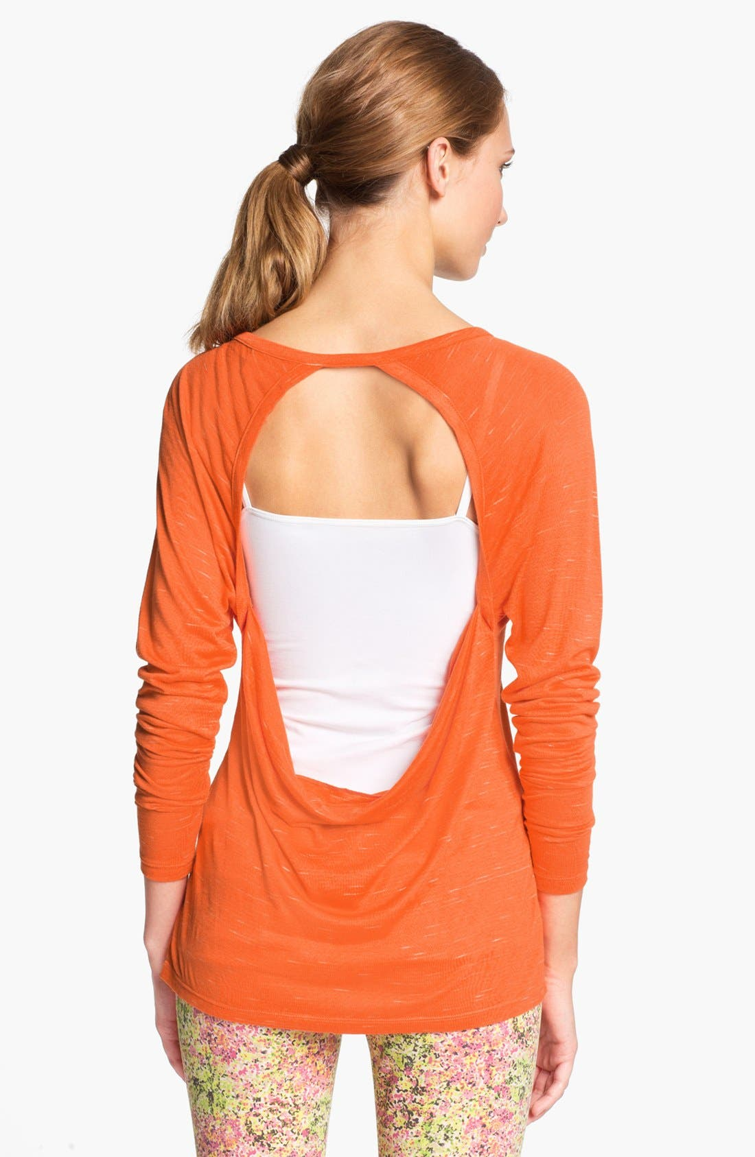 Main Image - Unit-Y 'Expression' Drape Back Slub Knit Tee