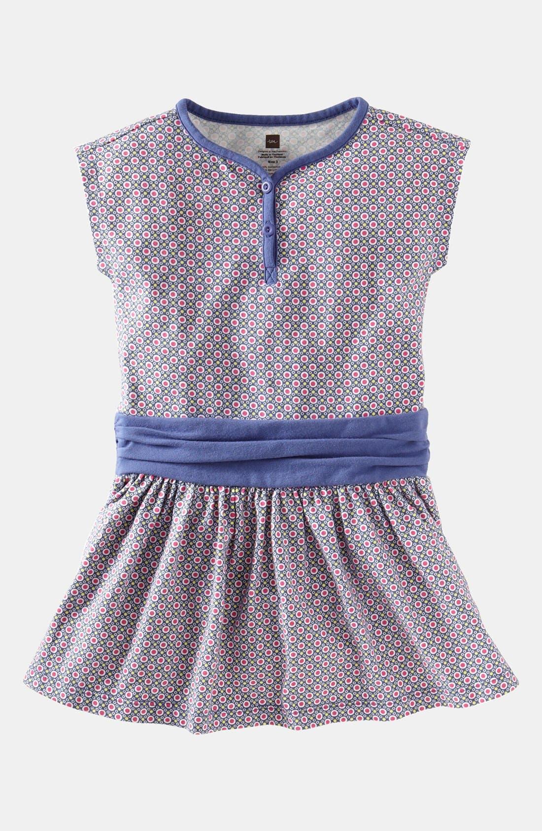 Main Image - Tea Collection 'Beijing Dot' Henley Dress (Toddler Girls)