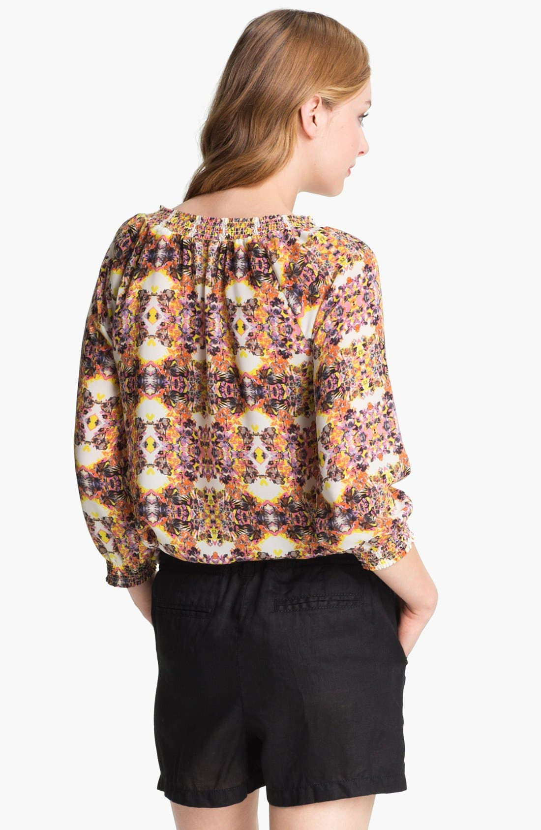 Alternate Image 4  - Caslon® Three Quarter Sleeve Peasant Blouse (Petite)
