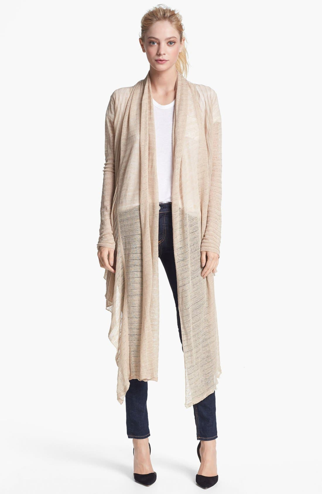 Alternate Image 2  - Alice + Olivia Draped Linen Wrap Sweater