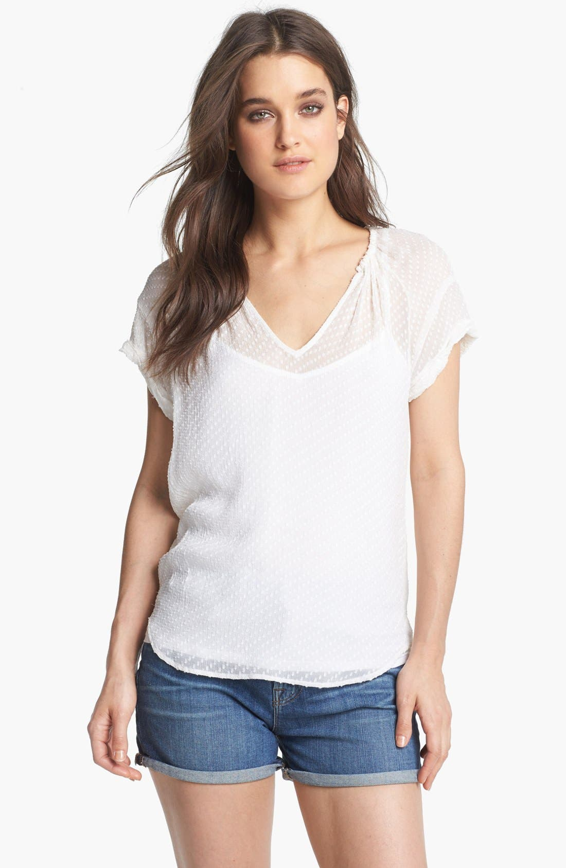 Alternate Image 1 Selected - Ella Moss Textured Peasant Top