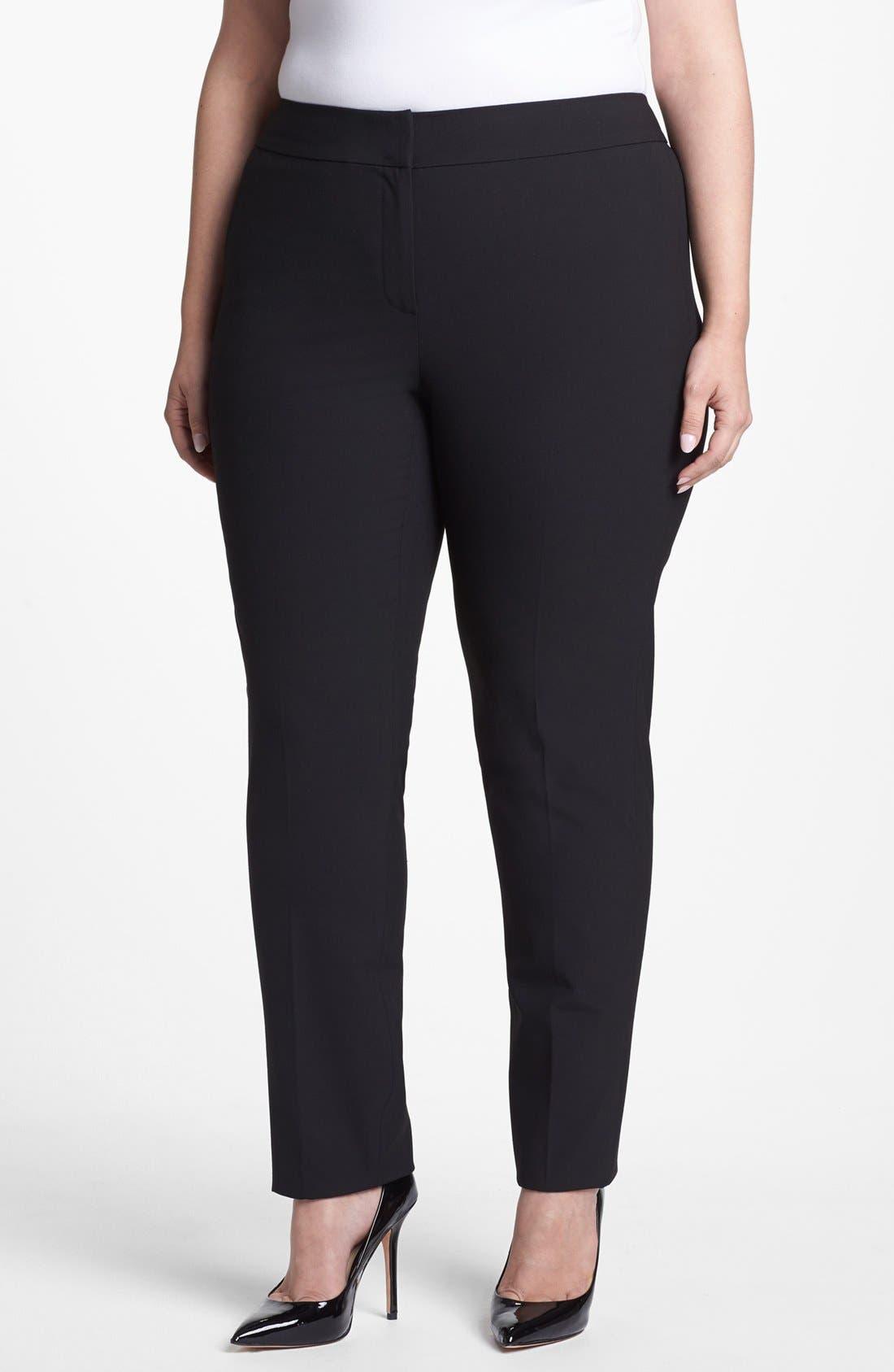 Alternate Image 1  - Sejour 'Ela' Straight Leg Pants (Plus Size)