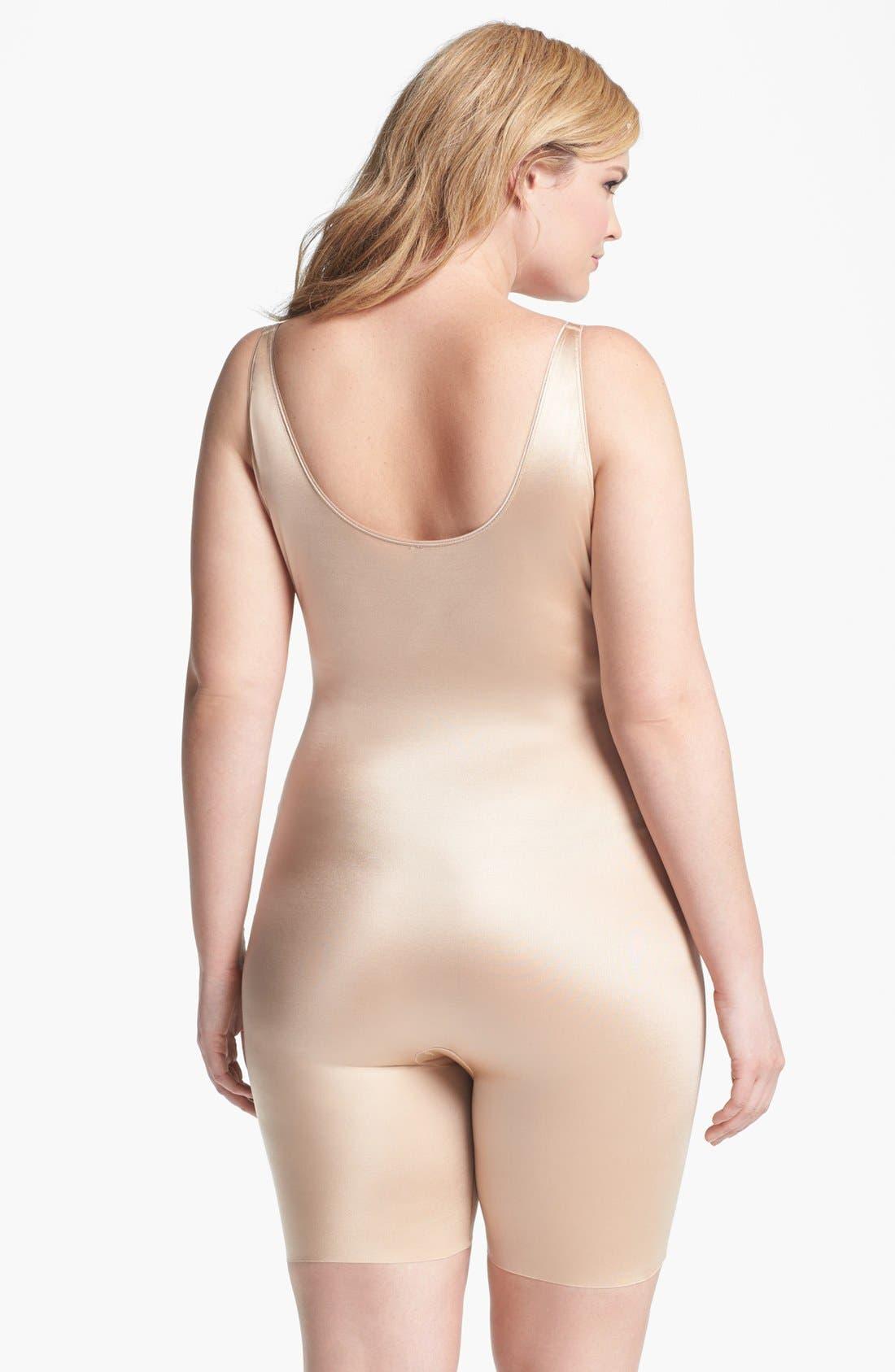 Alternate Image 2  - SPANX® 'Slimplicity' Underbust Mid Thigh Bodysuit Shaper (Plus Size)