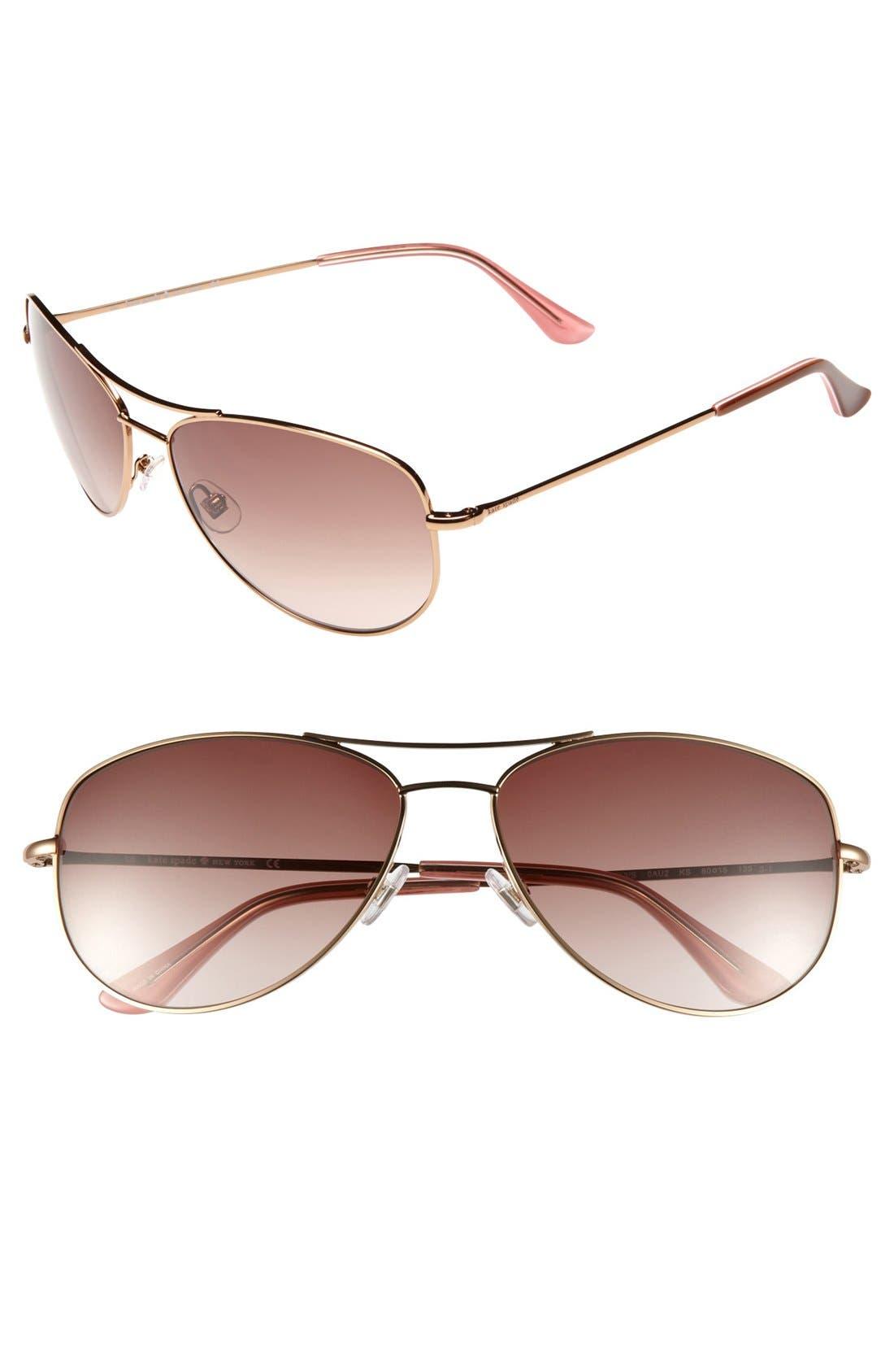 Main Image - kate spade new york 'ally 3' 60mm aviator sunglasses