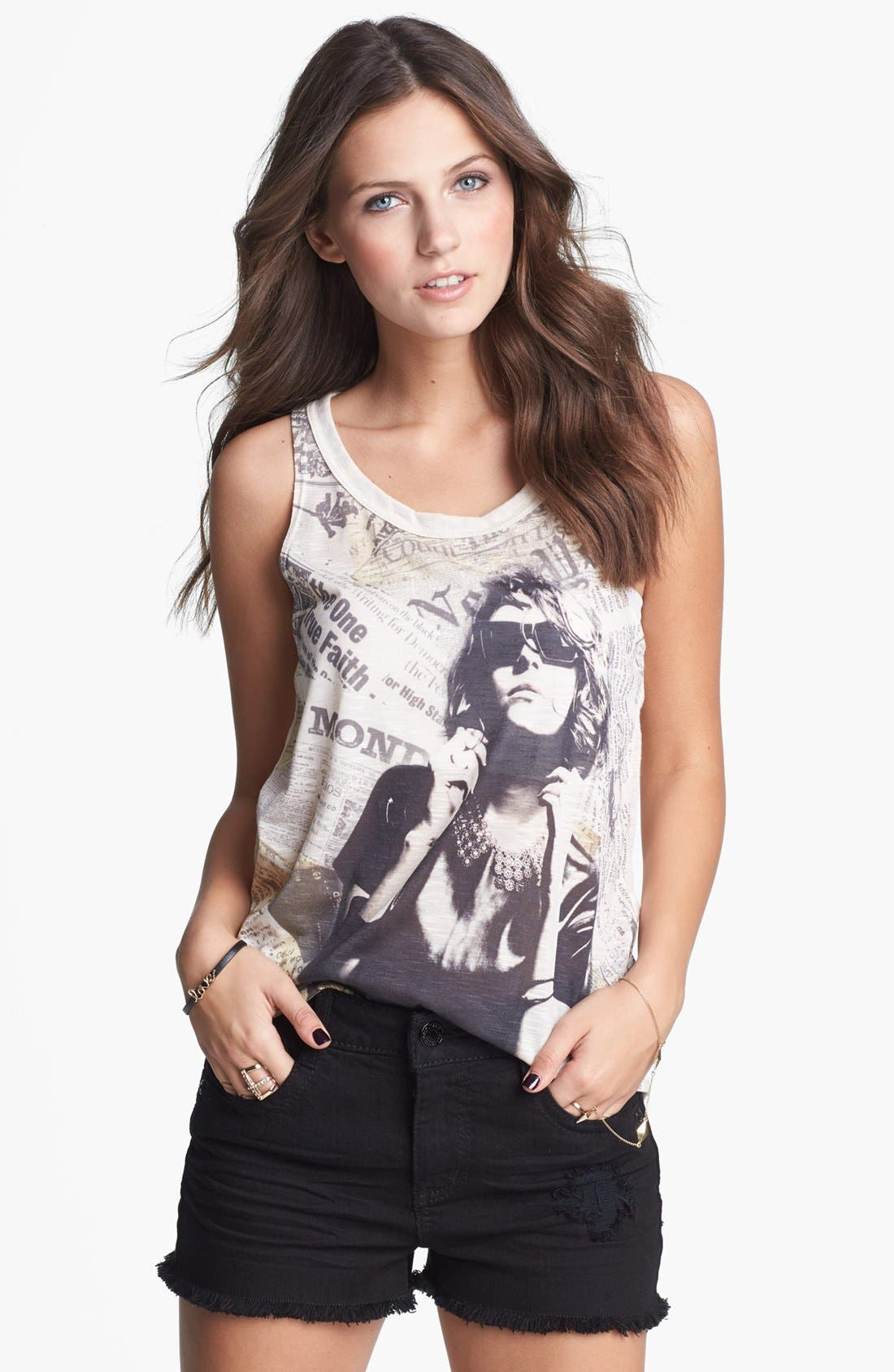 Alternate Image 1 Selected - Mary Jane Print Tank (Juniors) (Online Only)