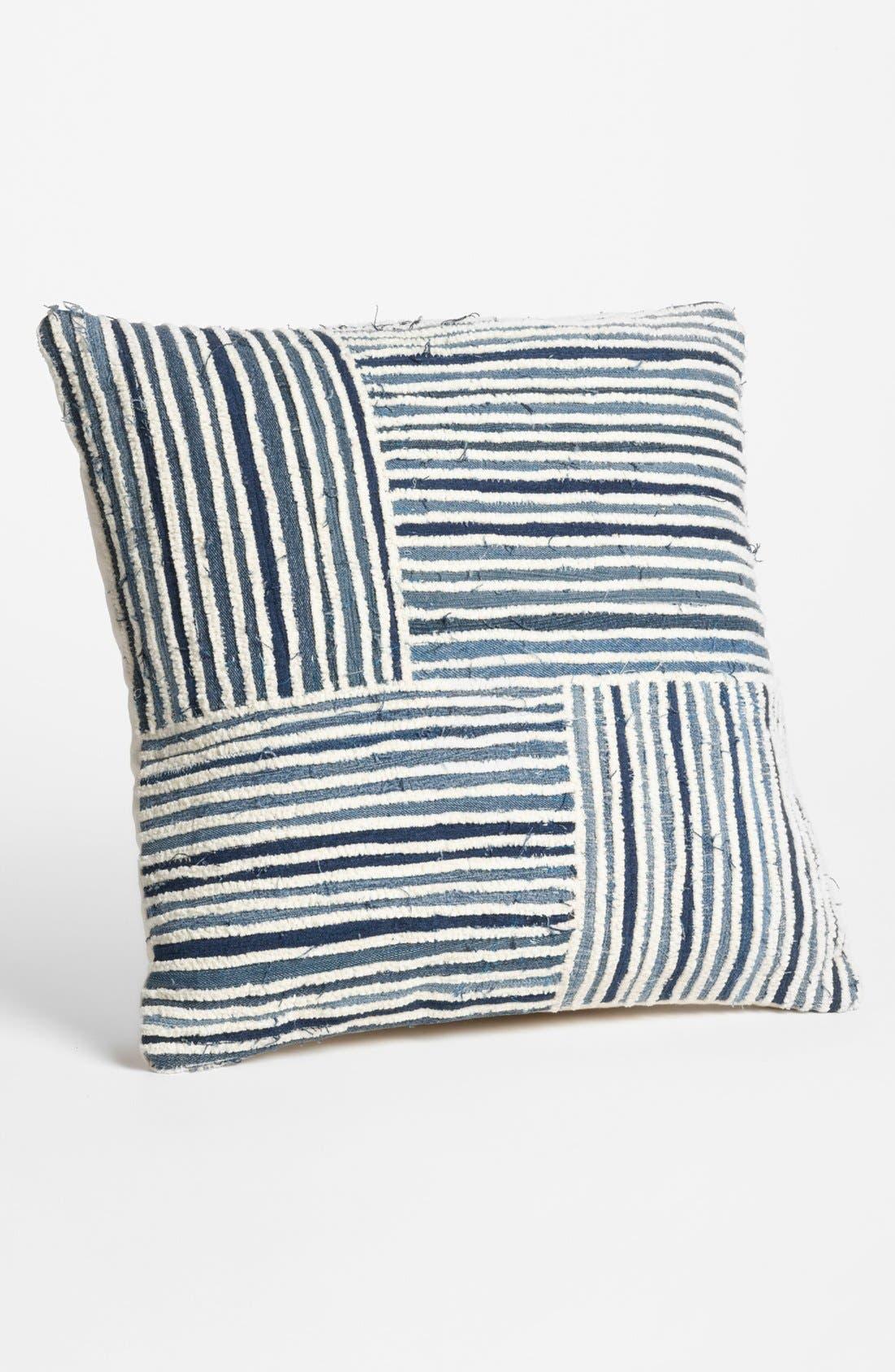 Main Image - Mina Victory Denim Stripe Pillow