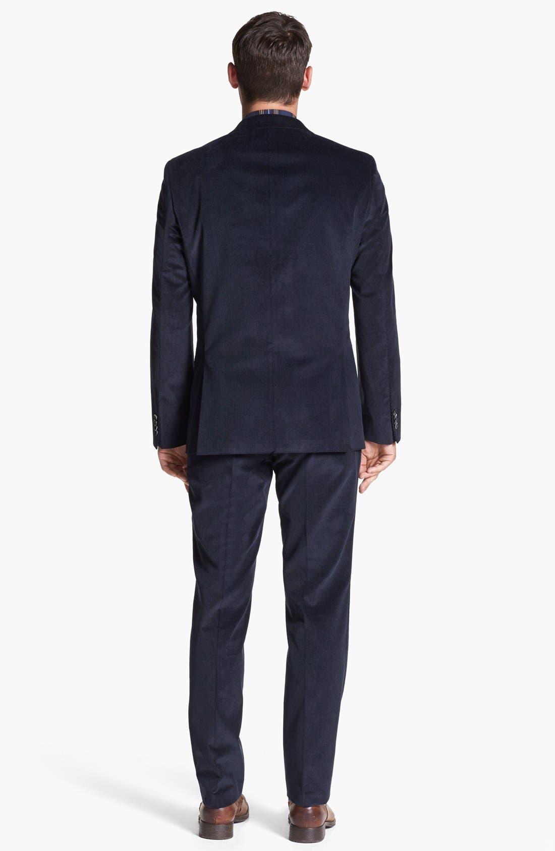 Alternate Image 3  - BOSS 'Hedge/Gense' Trim Fit Corduroy Suit
