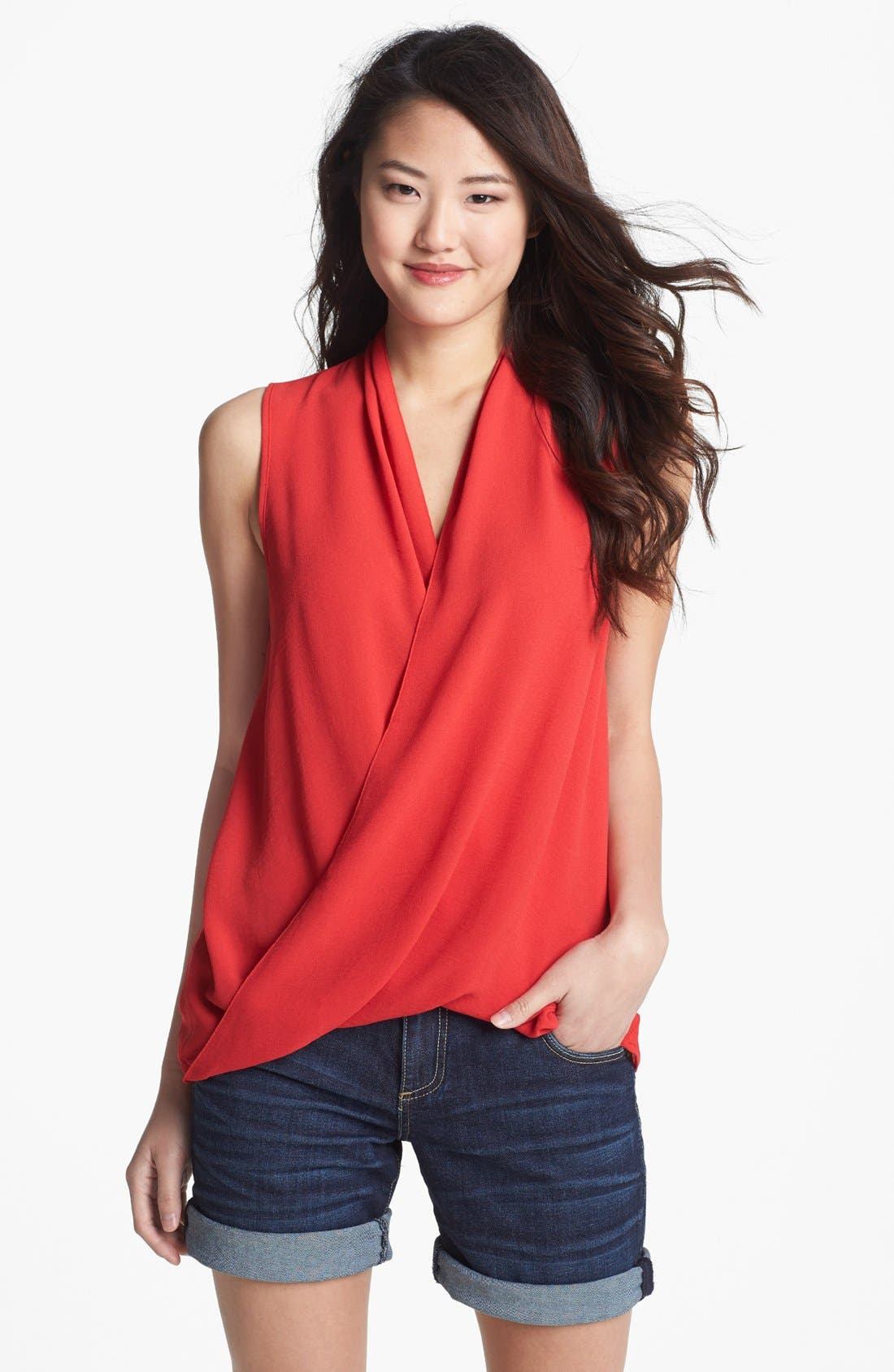 Alternate Image 1 Selected - KUT from the Kloth Faux Wrap Top (Online Only)