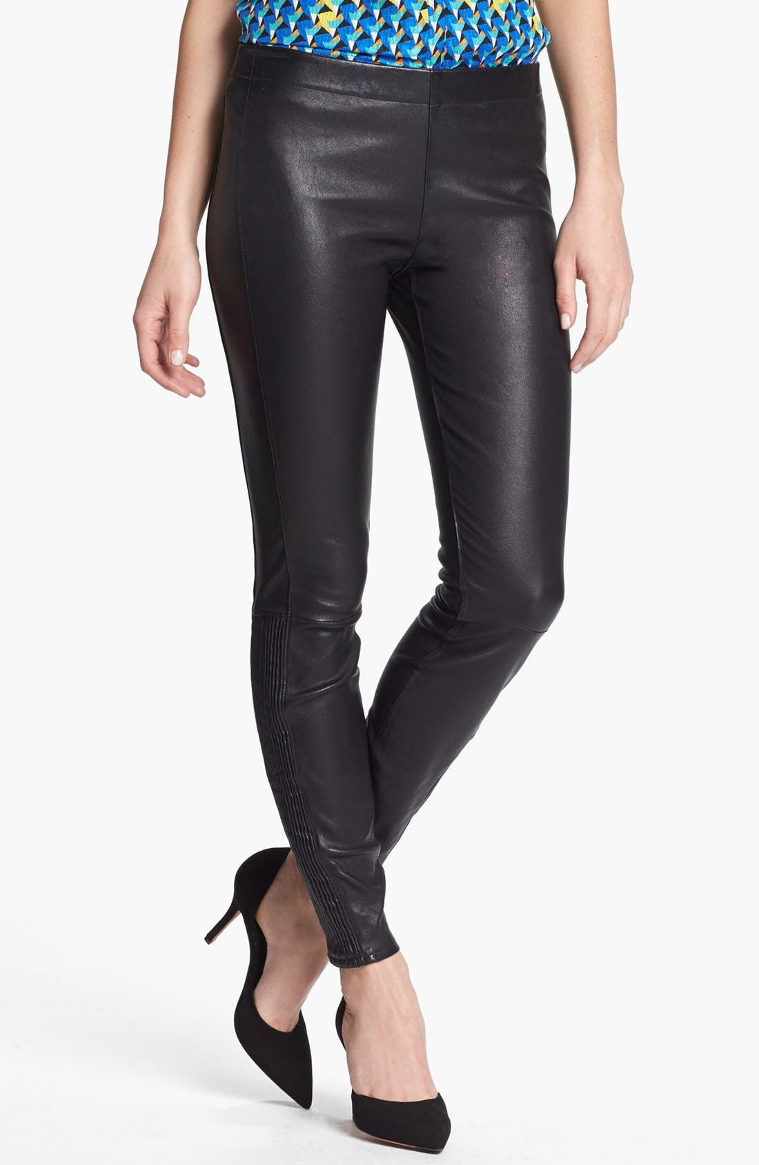 Main Image - MARC BY MARC JACOBS 'Lena' Leather Leggings