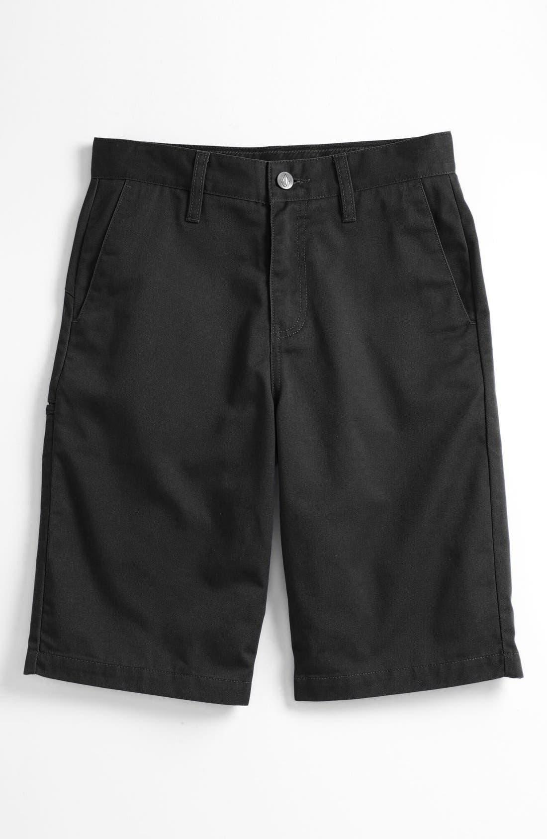 Main Image - Volcom 'Friendly' Chino Shorts (Big Boys)